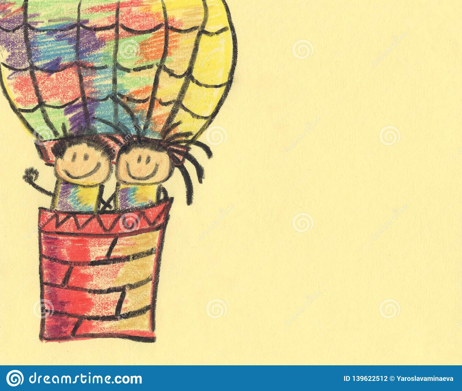 Balloon On A Light Background Drawing With Colored Pencils On A Light Background Children S Drawing Colorful Background Stock Illustration Illustration Of Light Glass 139622512