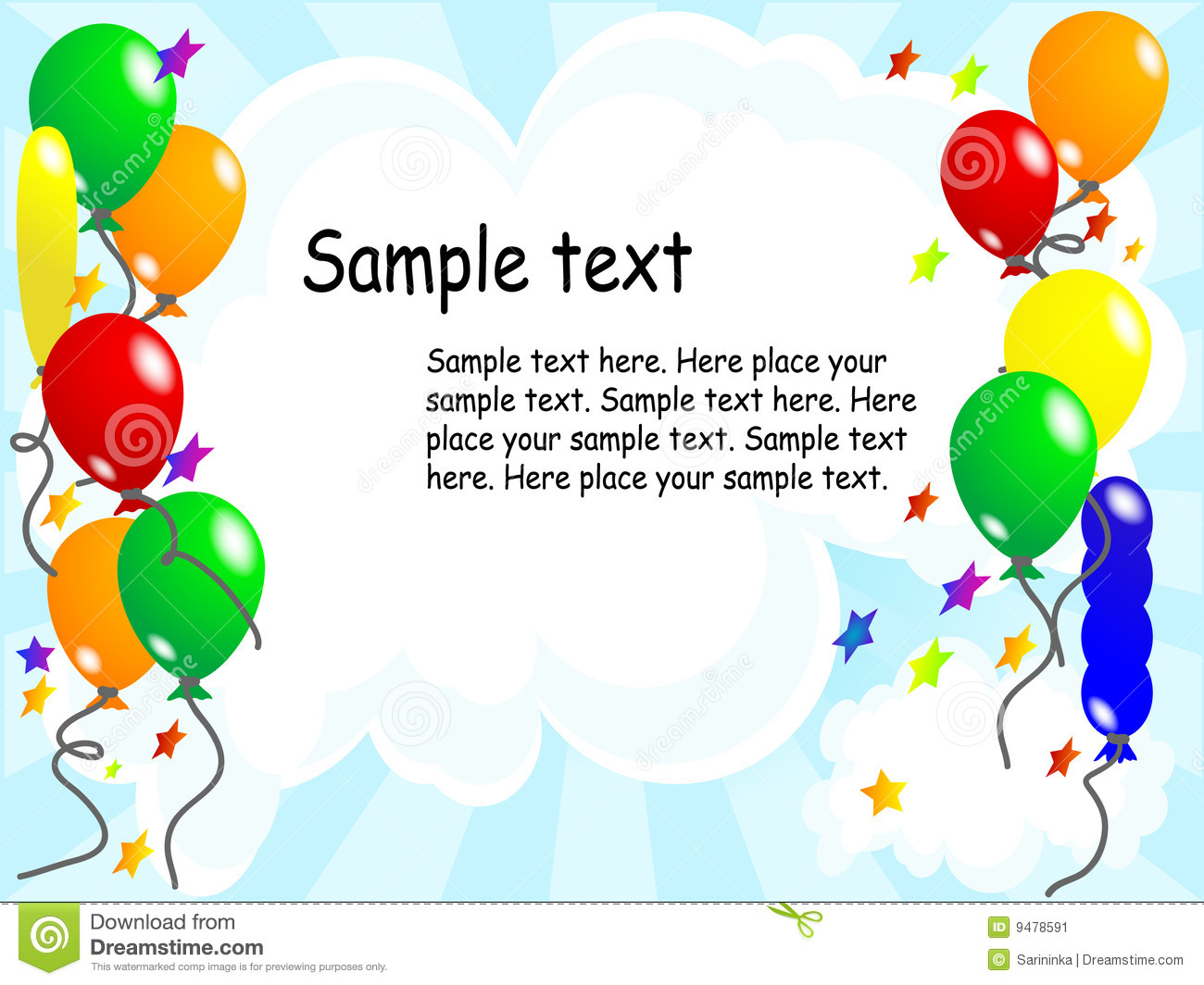 Balloon party background stock image image 9478591
