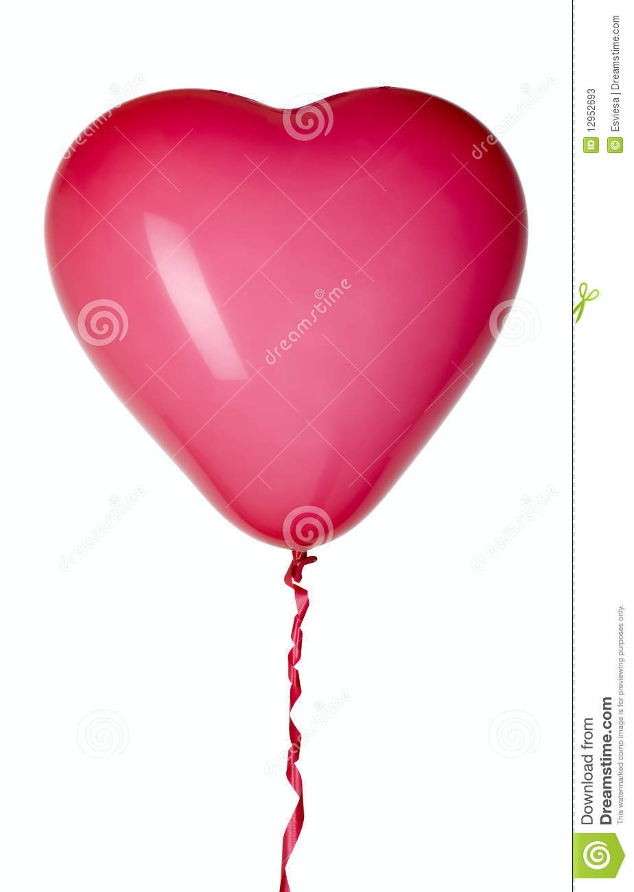 Balloon with red string for party decoration stock photos for Balloon string decorations