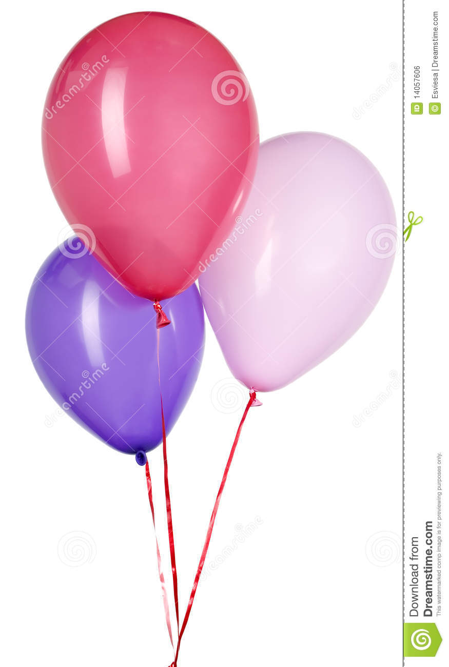 Balloon with red string for party decoration royalty free for Balloon string decorations