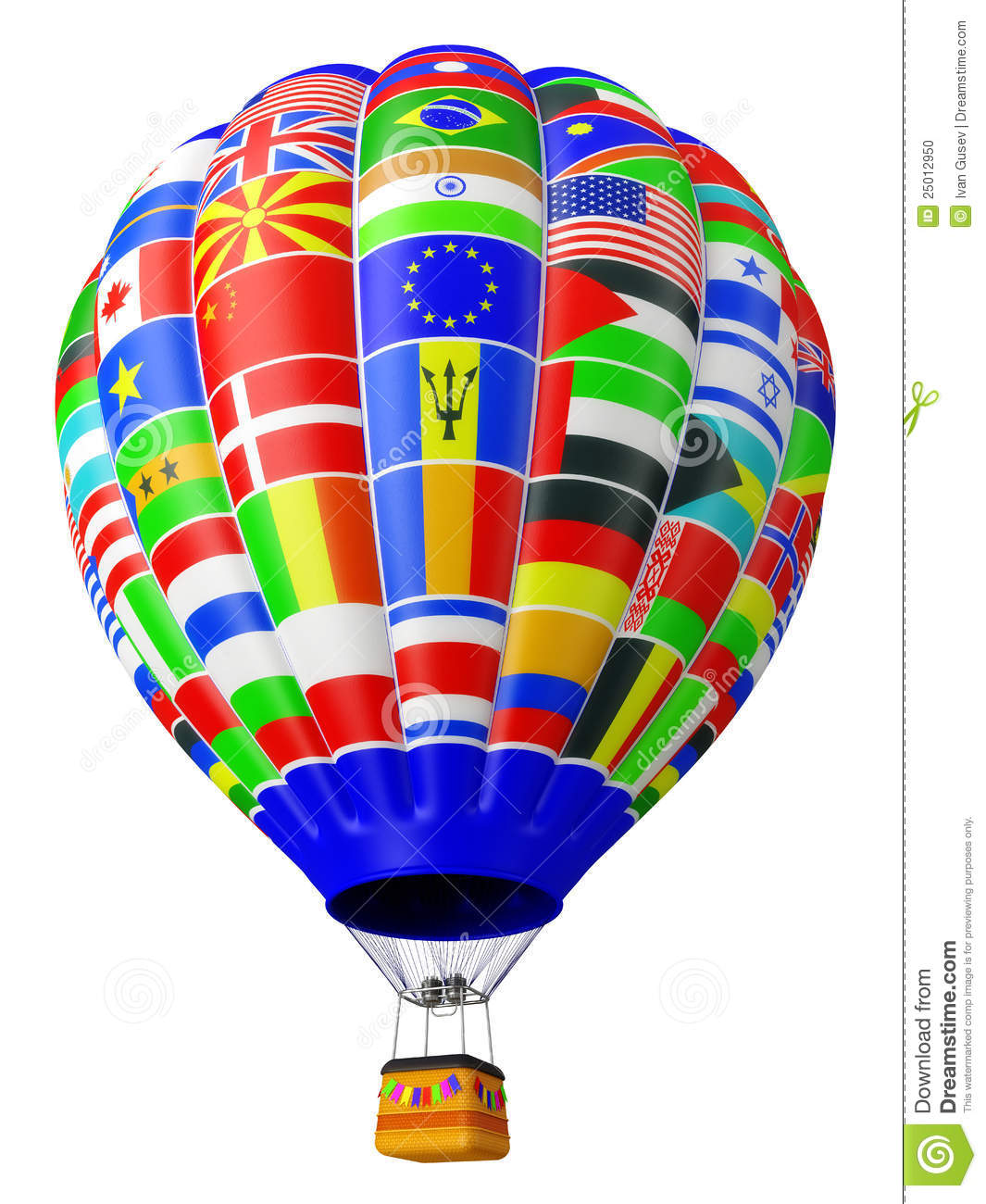 Balloon A Symbol Of Globalization Stock Photo Image