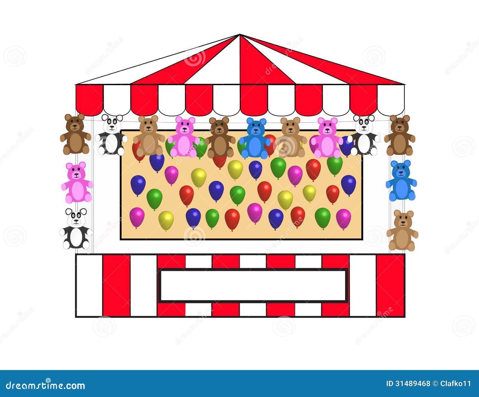 Balloon toss w bears royalty free stock photos image for Free balloon games