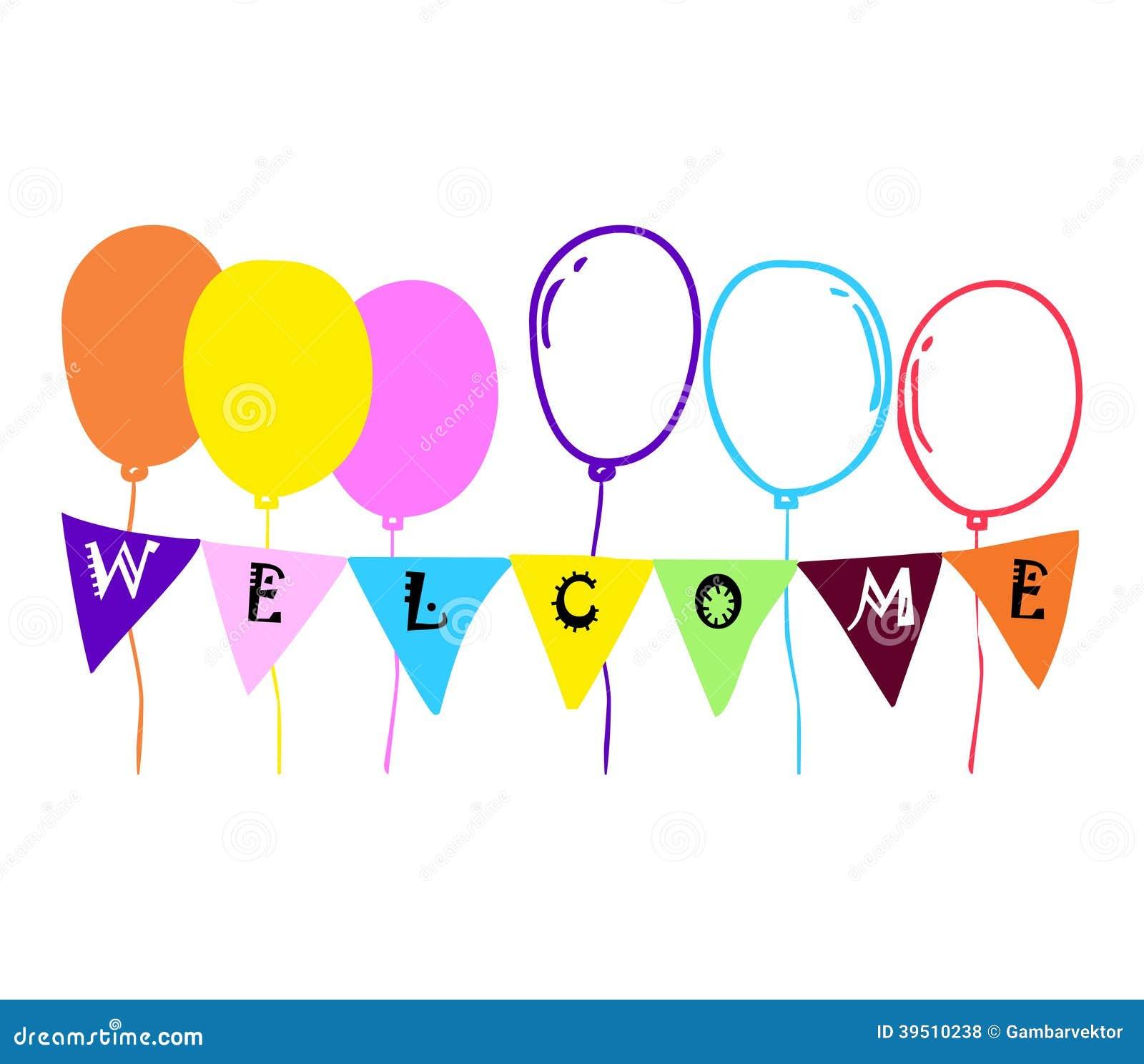 Balloon welcome stock vector image 39510238