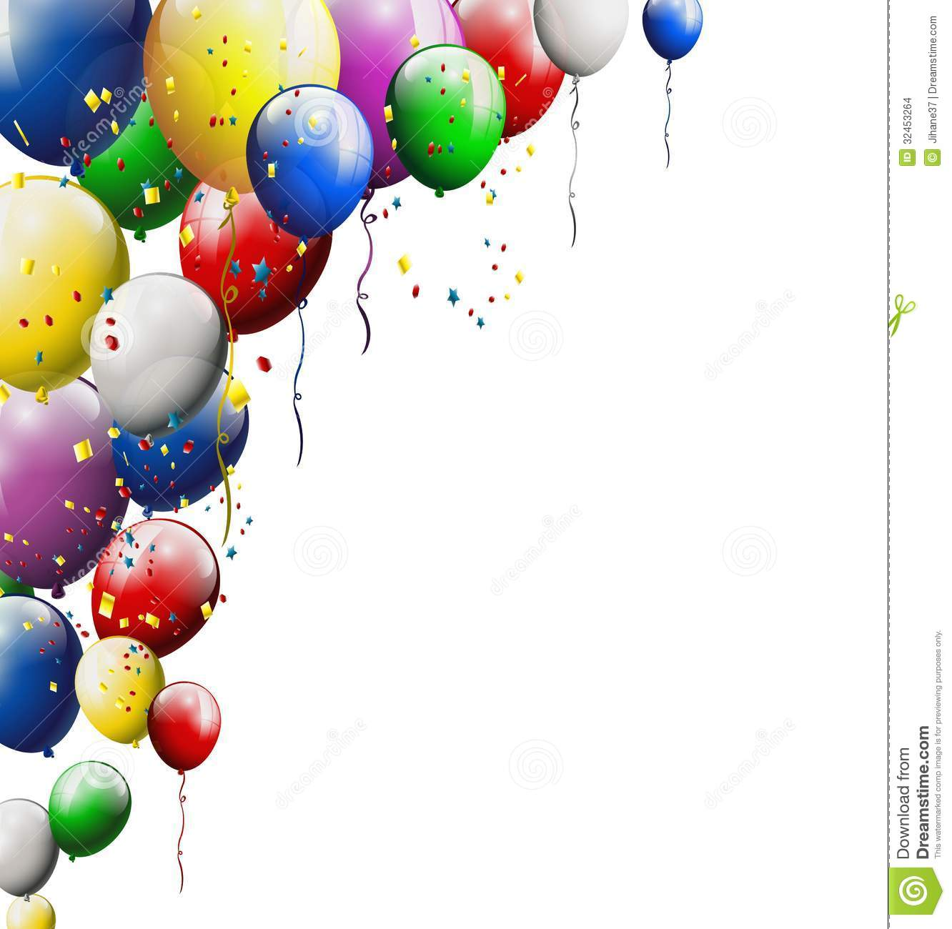 Balloons Background For You Design Stock Illustration