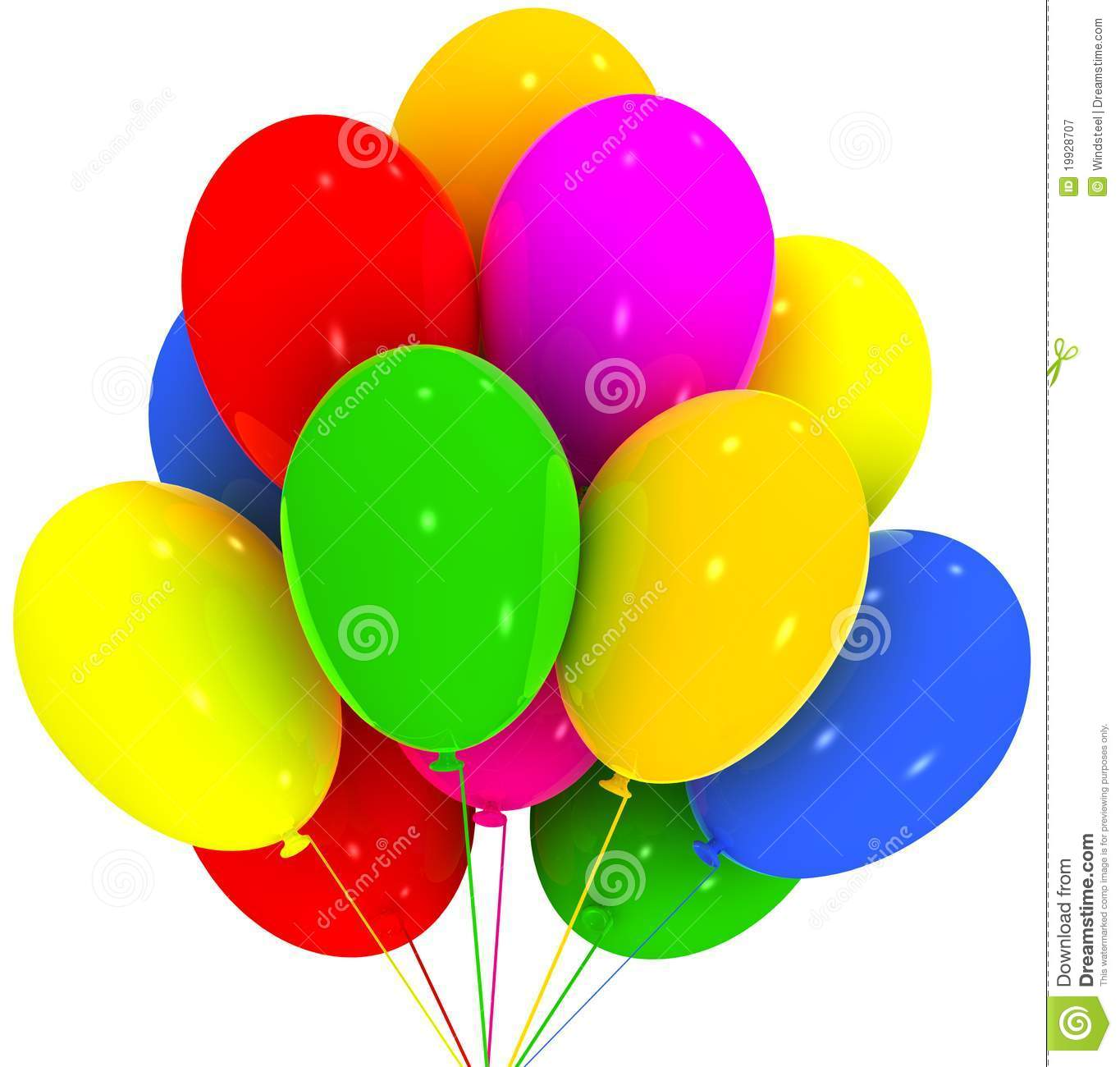 Balloons. Birthday And Party Decoration. Royalty Free Stock