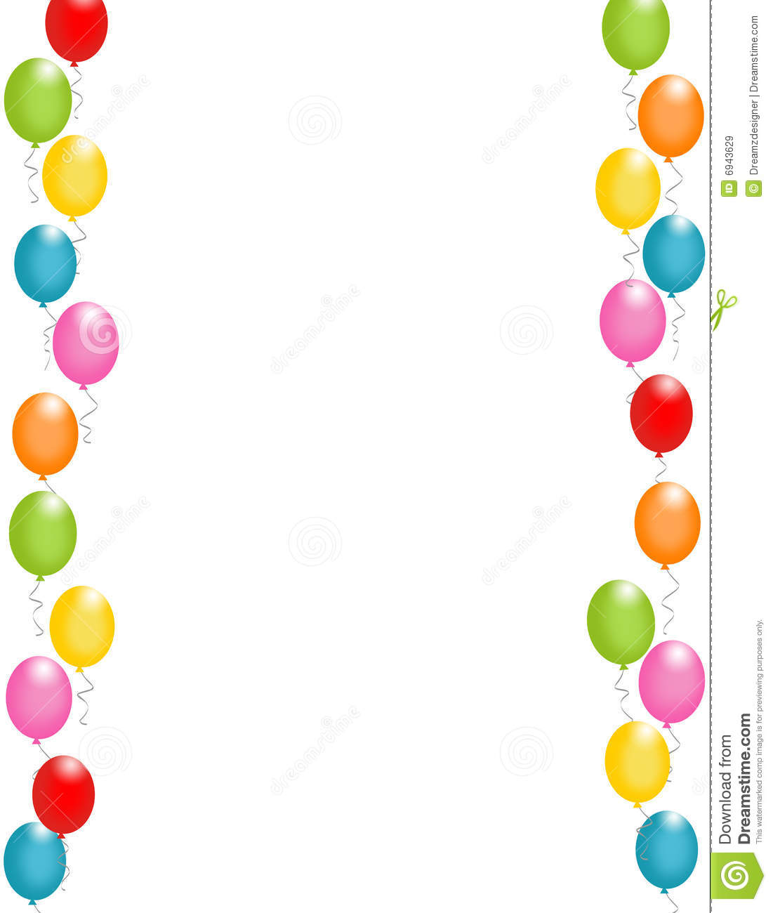 Cartas de cumplea c3 b1os colouring pages -  Holiday Coloring Pages Feliz Cumpleanos Coloring Pages Colorful Balloons Border Frame Illustration For Birthday