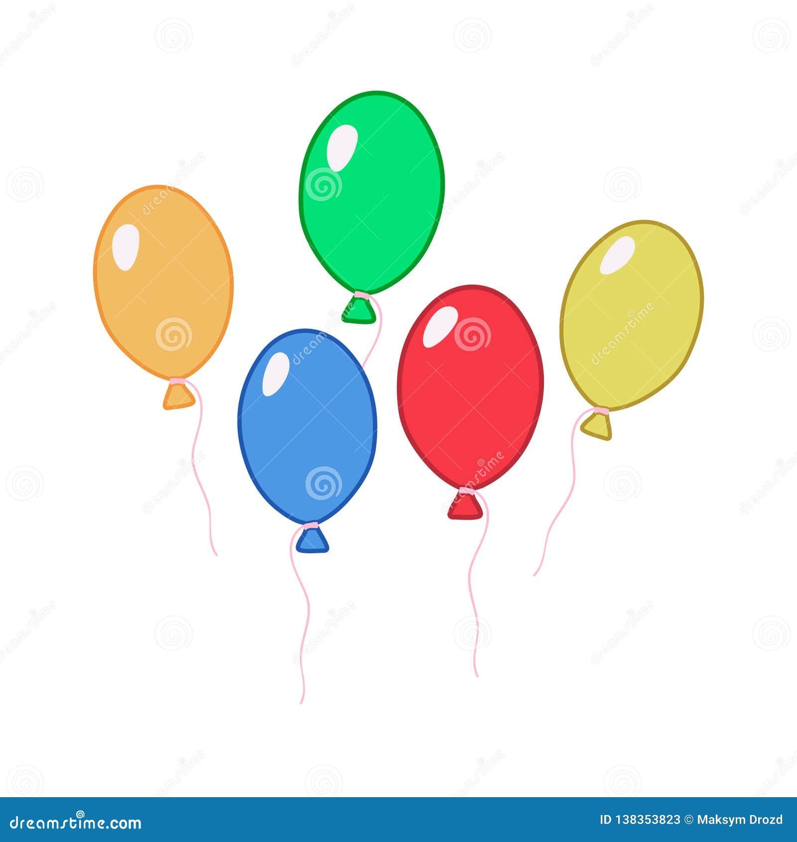 bb43b93d7cf Balloons Clip Art Stock Illustrations – 3