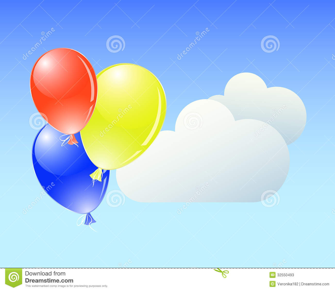 Balloons and clouds stock photos image 32550493 for Silver cloud balloons