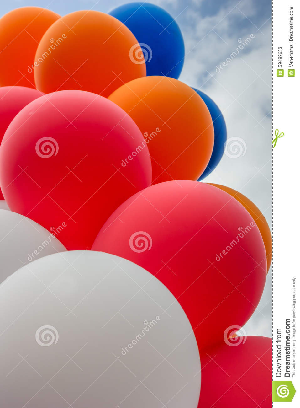 Balloons In The Colors Of The Dutch Flag Stock Image ...