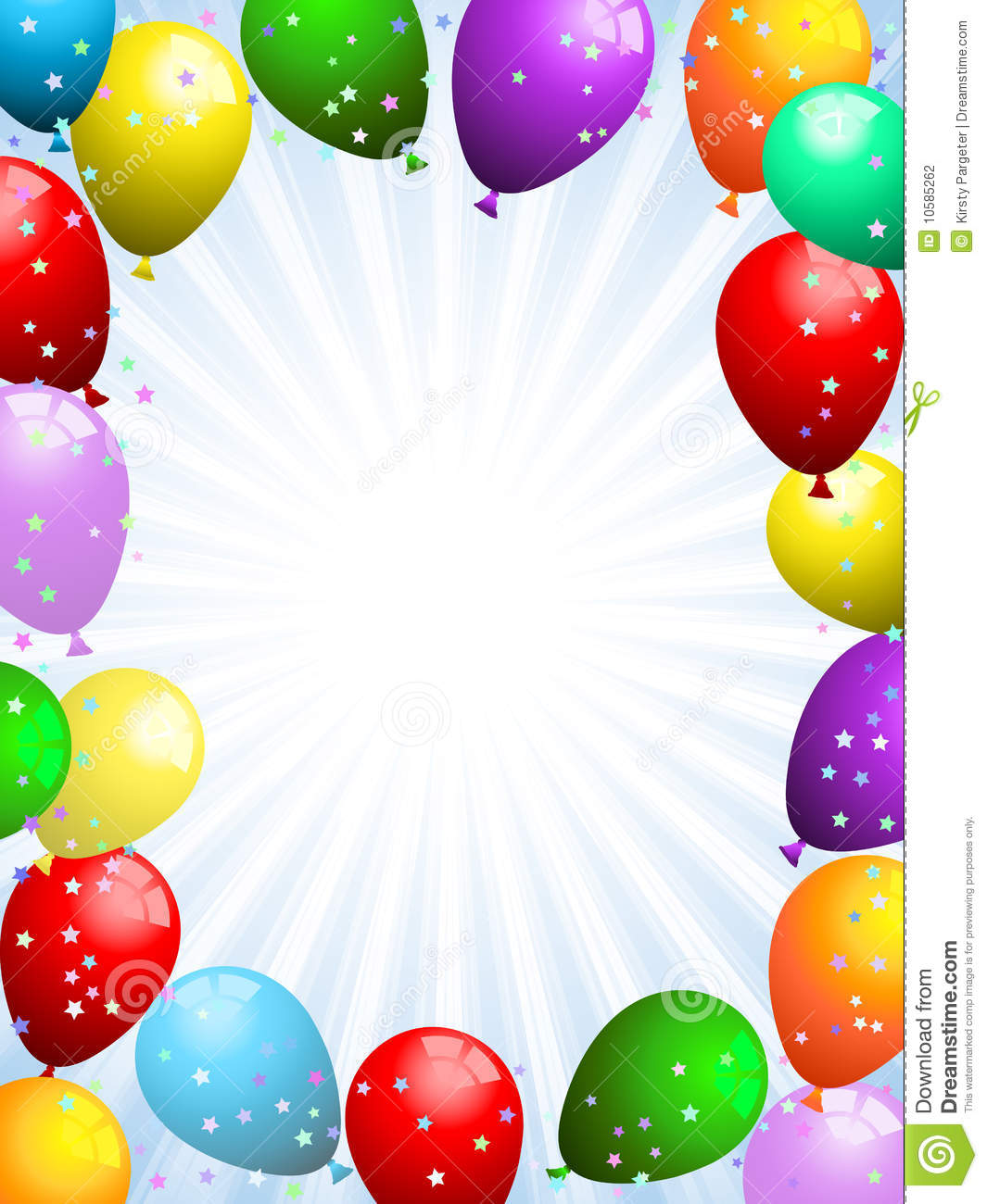 Balloons And Confetti Stock Photography - Image: 10585262