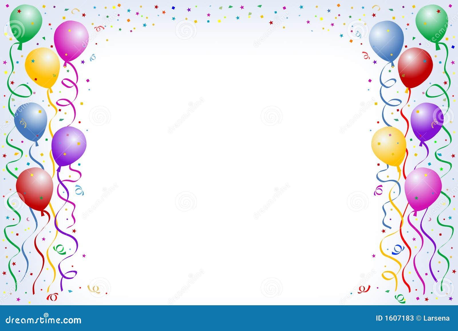 Stock Photos Balloons Confetti Image1607183 on Program Borders Clip Art