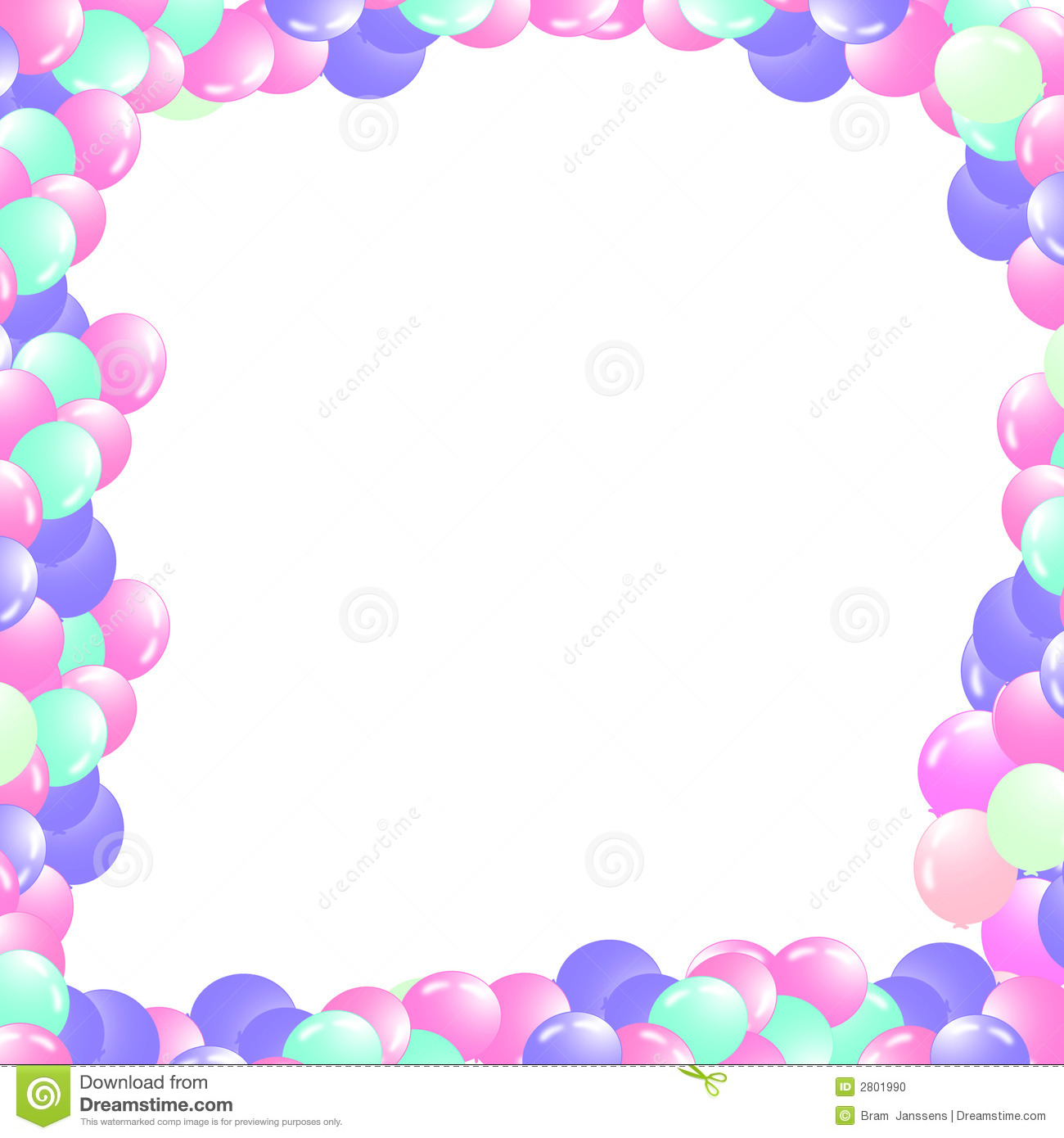 White Frame Png Balloons in a Frame With White