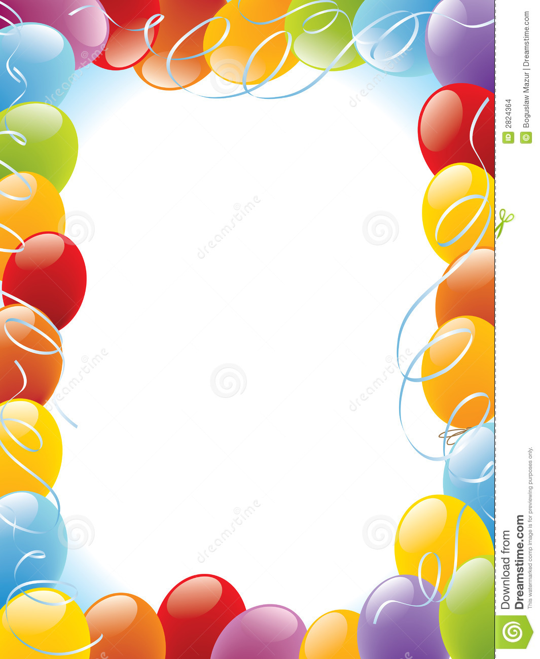 Balloons frame decoration ready for posters and cards.