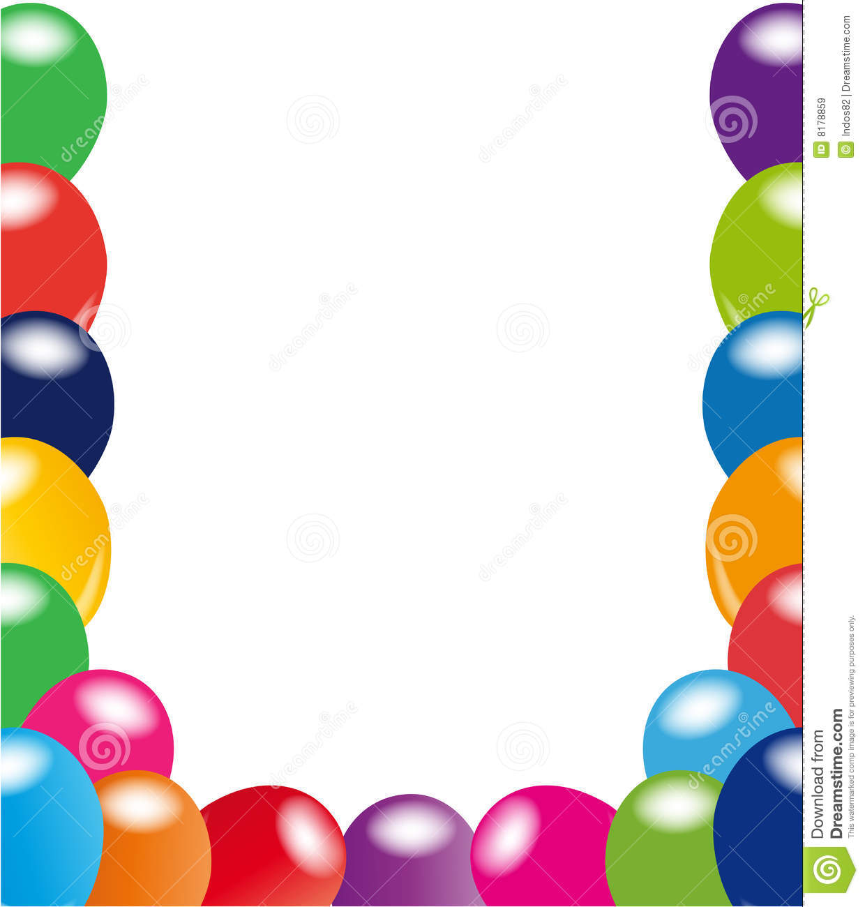 balloons frame royalty free stock images image 8178859