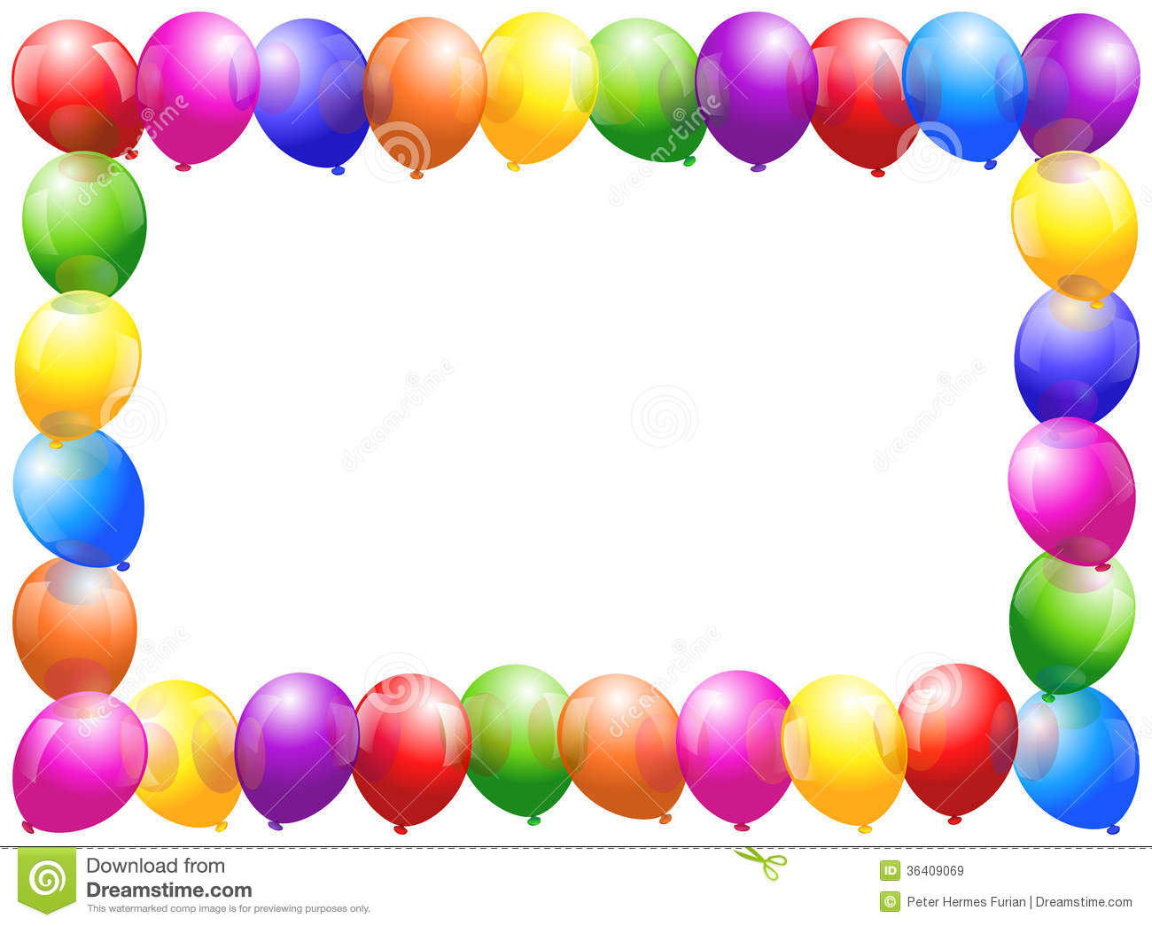 balloons frame stock vector illustration of event color
