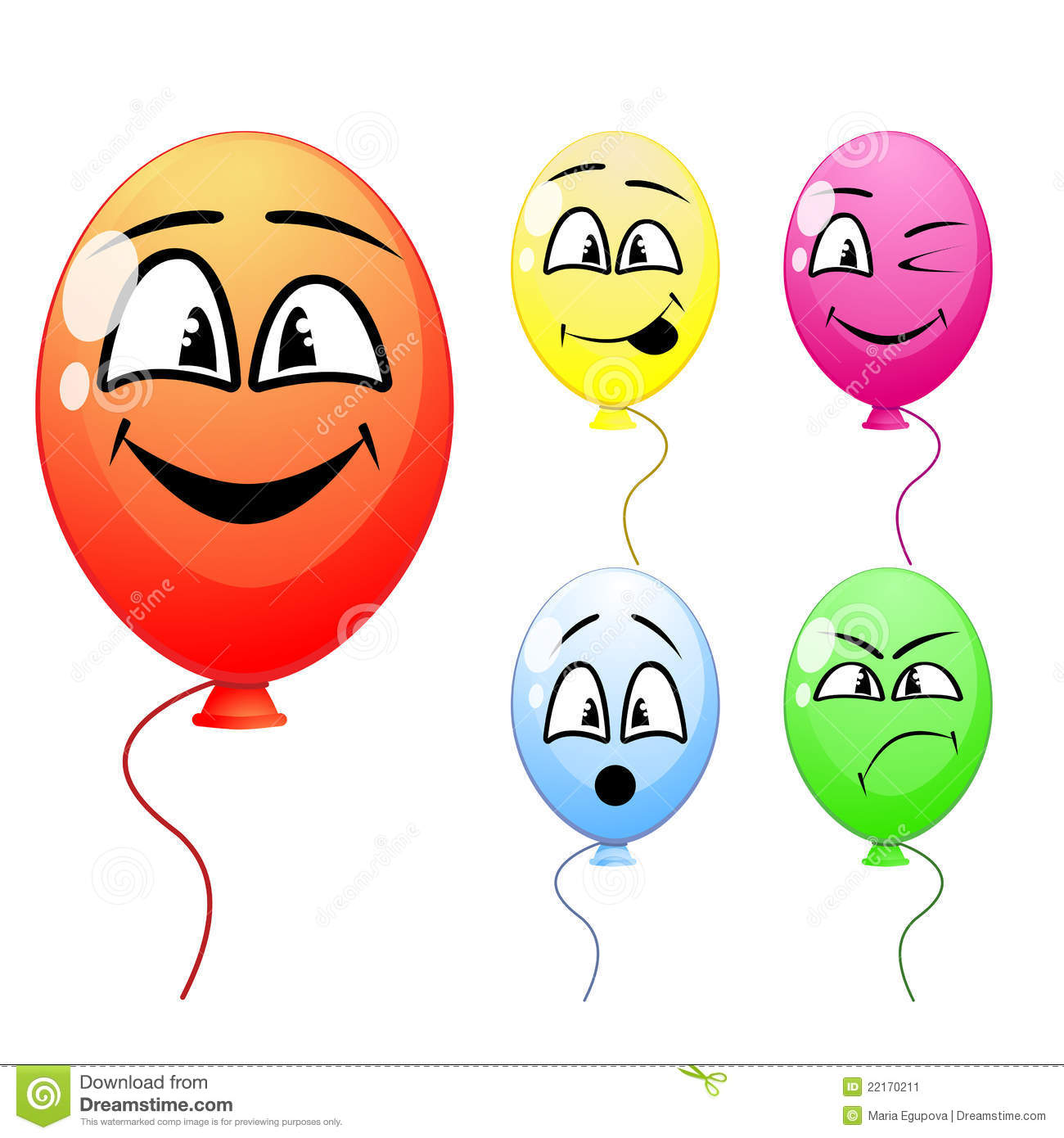 Funny balloon faces - Balloons Funny