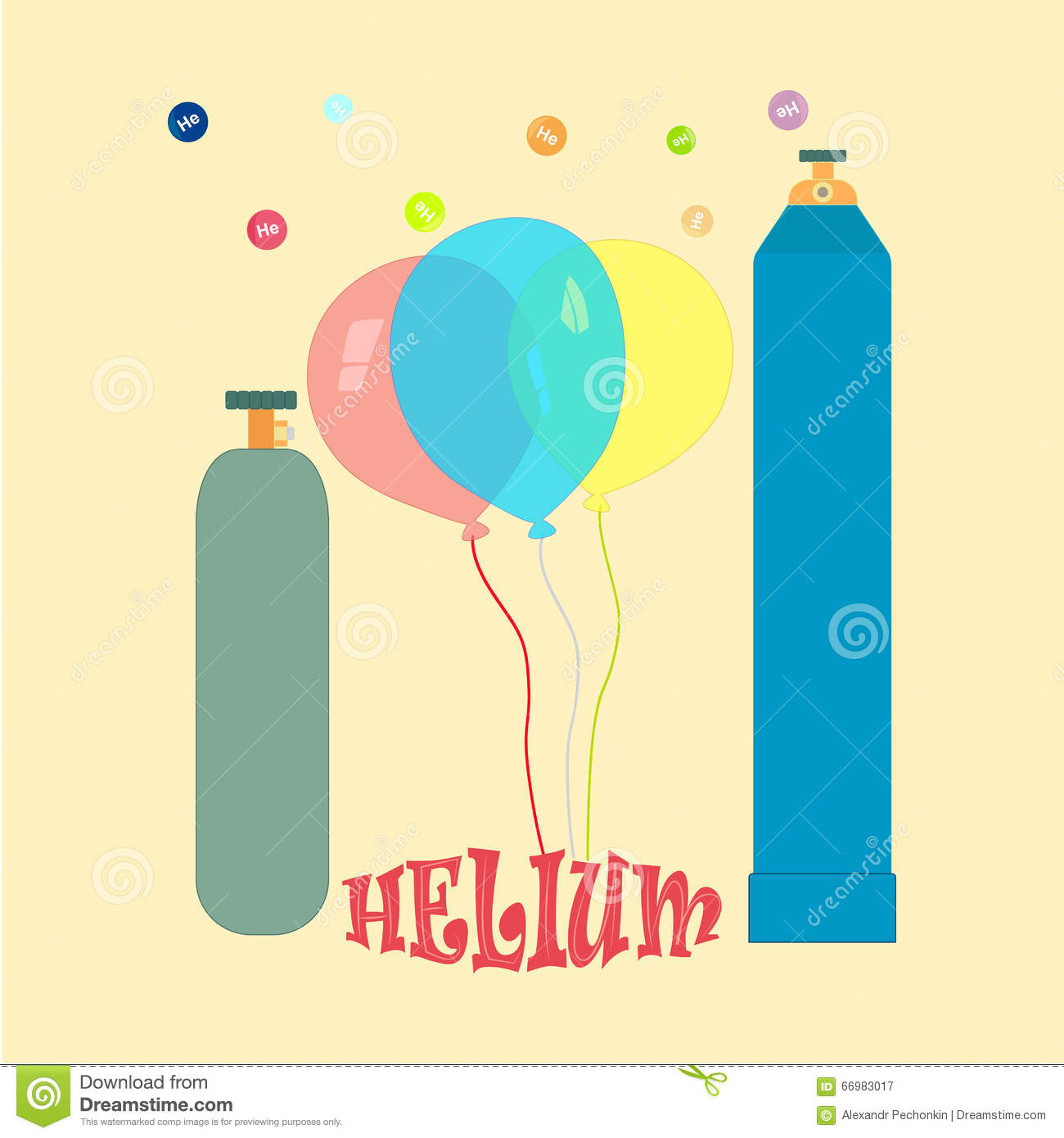 balloons with helium stock vector illustration of surprise 66983017