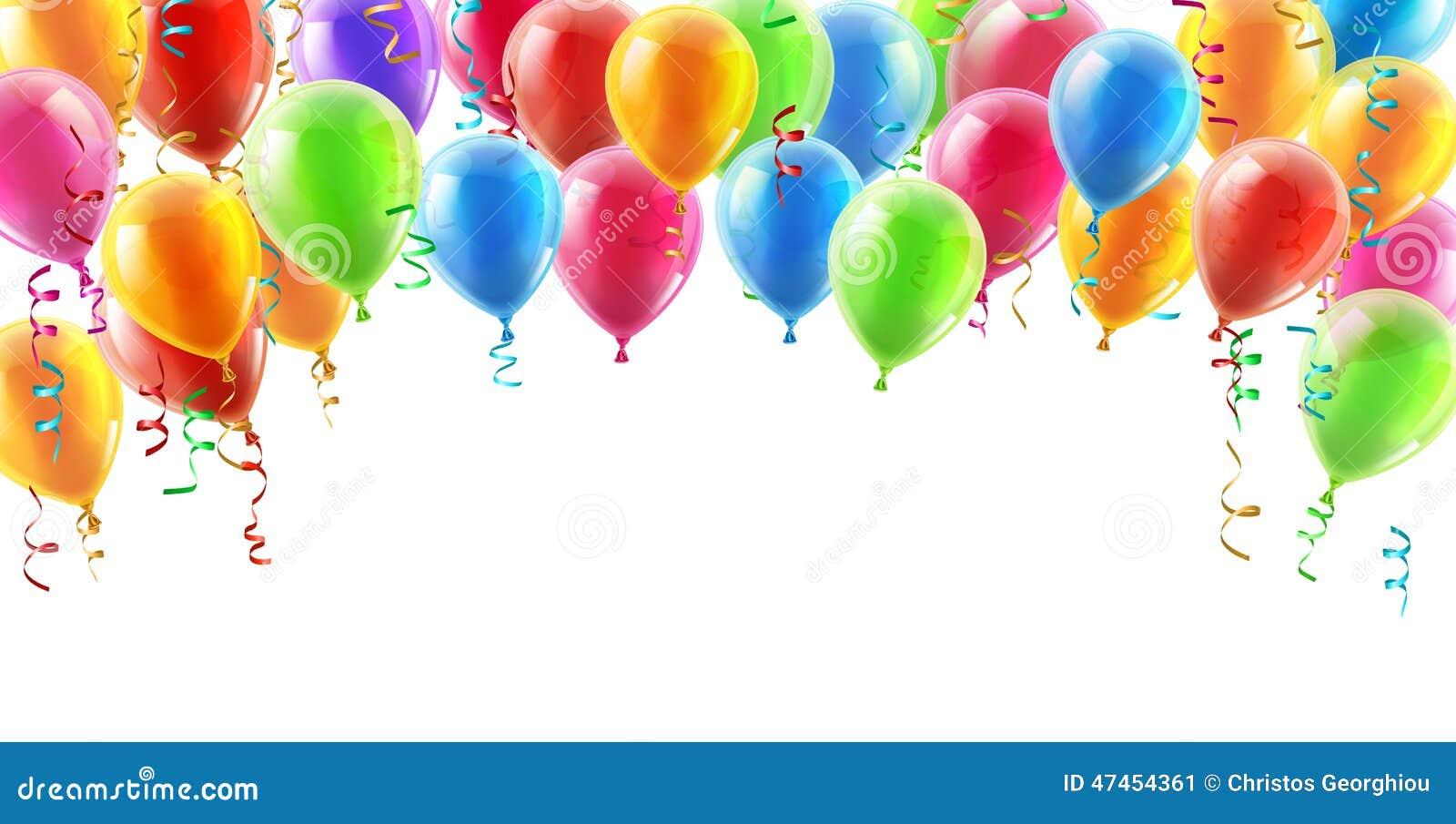 Balloons o fundo do encabeçamento