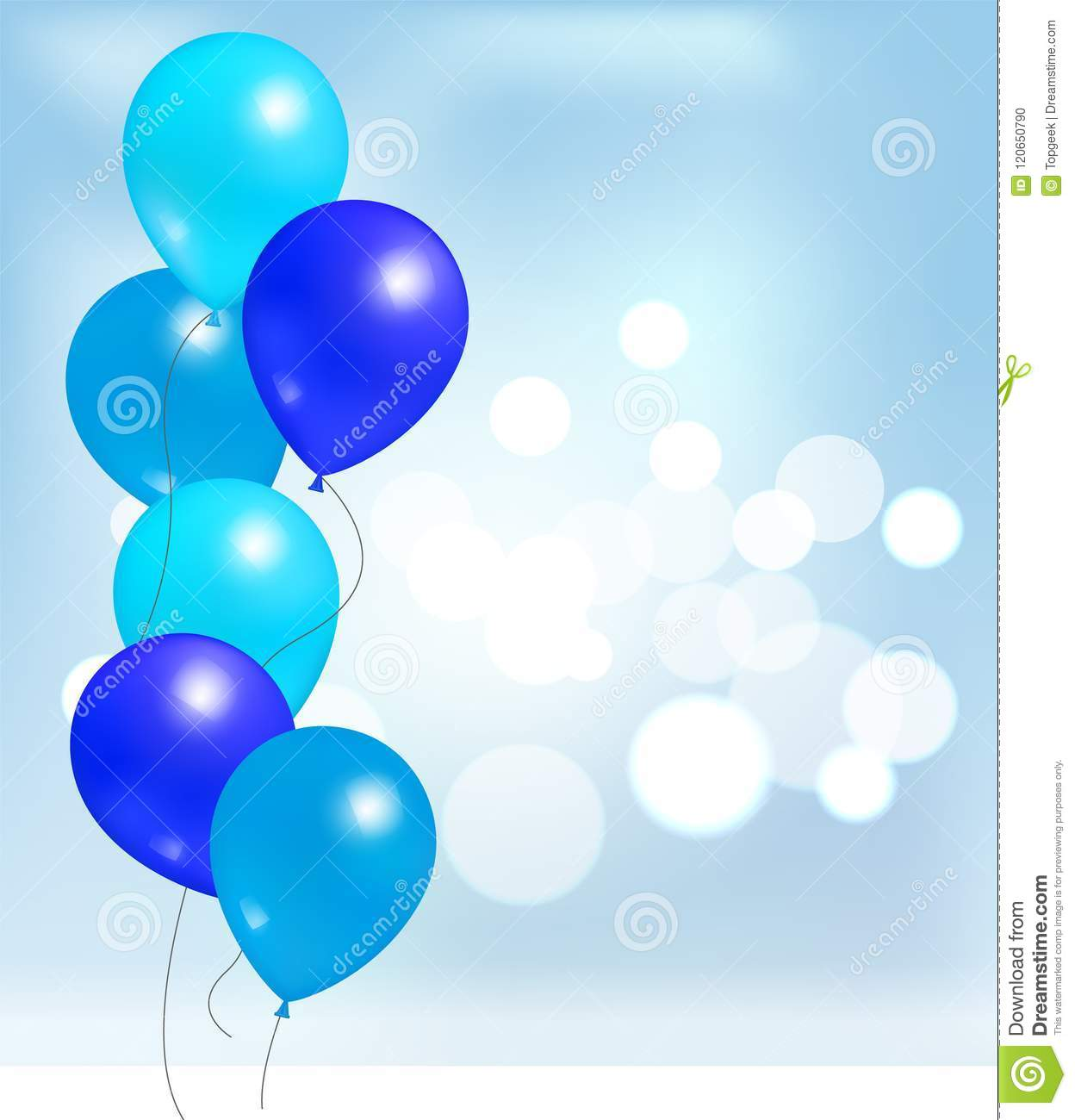 Balloons For Party Decorations Birthday Background