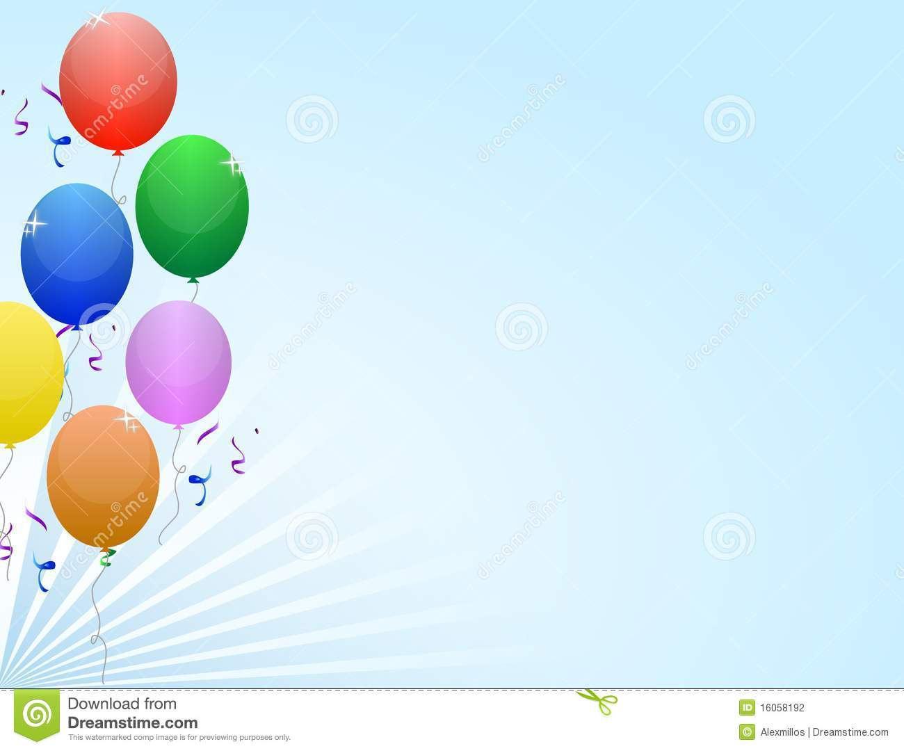 Balloons party frame stock vector. Image of birthday
