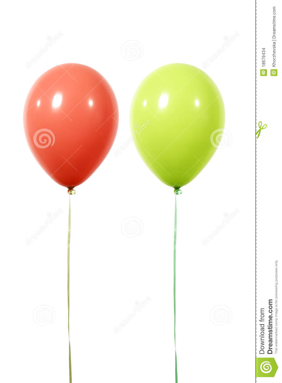 Balloons Red And Green Stock Images Image 18679434