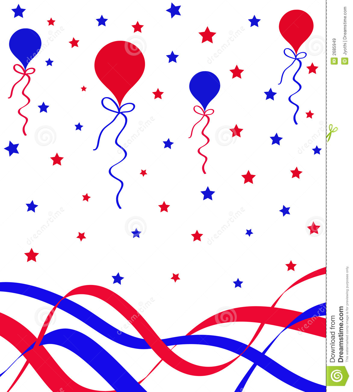 Balloons And Ribbons Stock Illustration Image Of Abstract