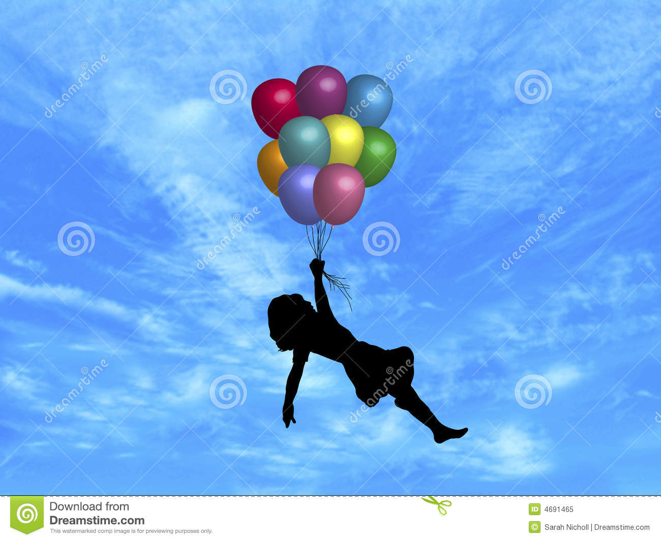 Balloons In Sky Royalty Free Stock Image
