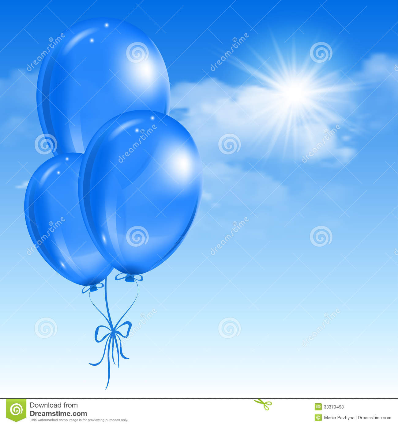 Balloons in the sky royalty free stock photos image for Silver cloud balloons