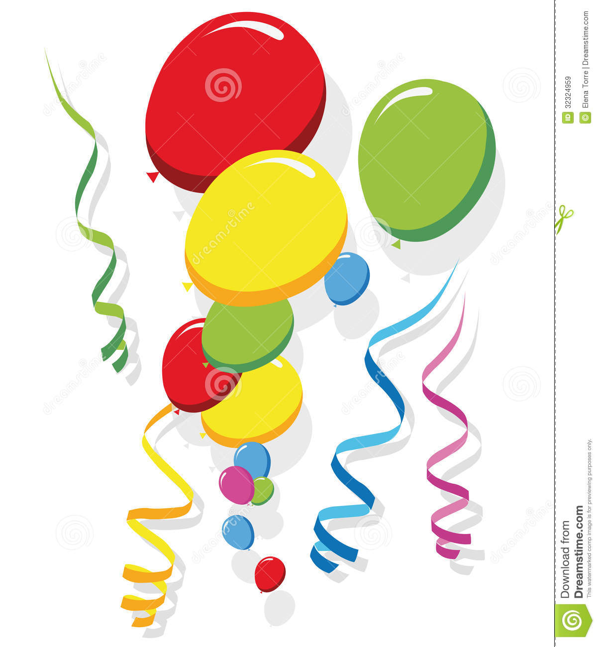 clip art free balloons and streamers - photo #4