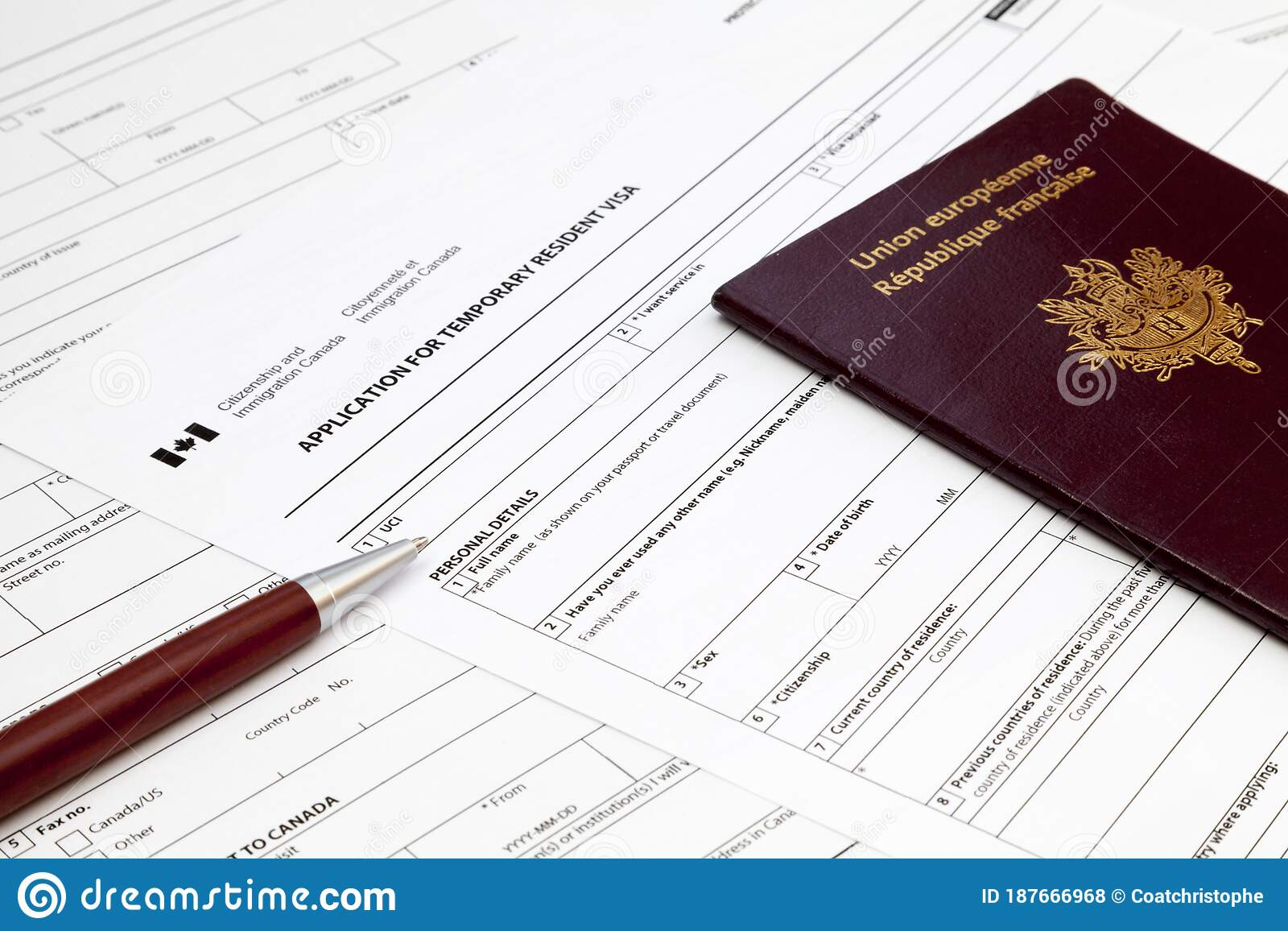 Canadian Temporary Resident Visa Application Form Editorial Stock Photo Image Of System Resident 187666968