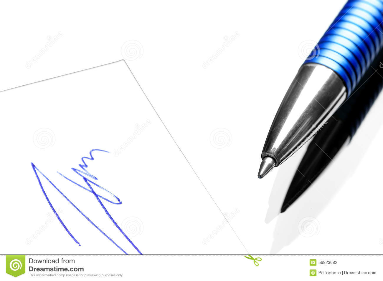 Ballpoint Pen And A Handwritten Signature Stock Photo Image Of Each Includes 1 Ball Point Fountain As The Diagram