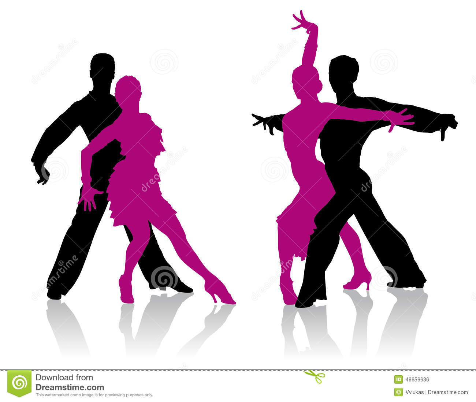Ballroom Dancing Silhouette Vector Ballroom Dancers Silho...