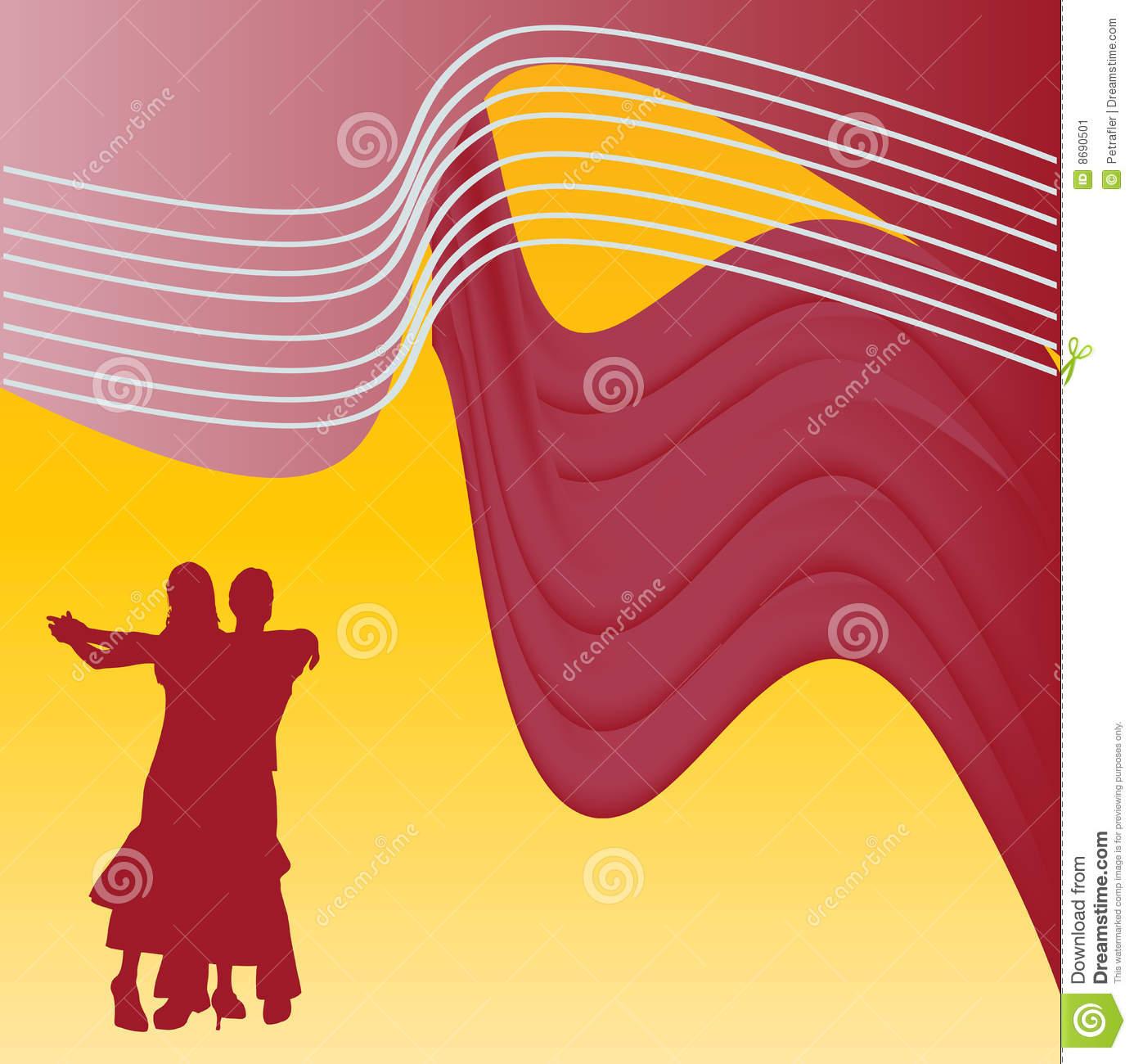 Ballroom Dancing Background Stock Vector - Illustration ...