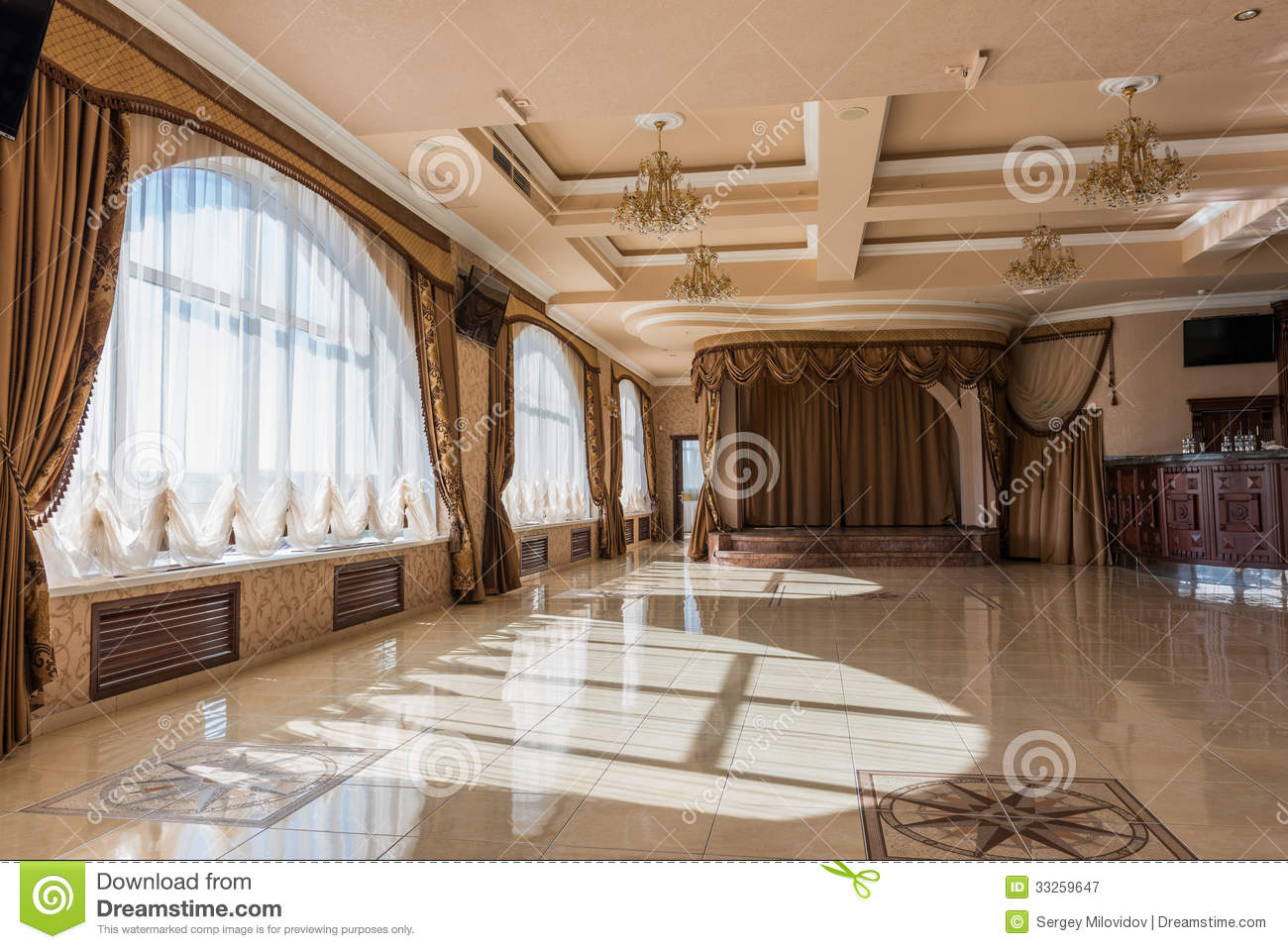 Ballroom Interior Royalty Free Stock Photography Image