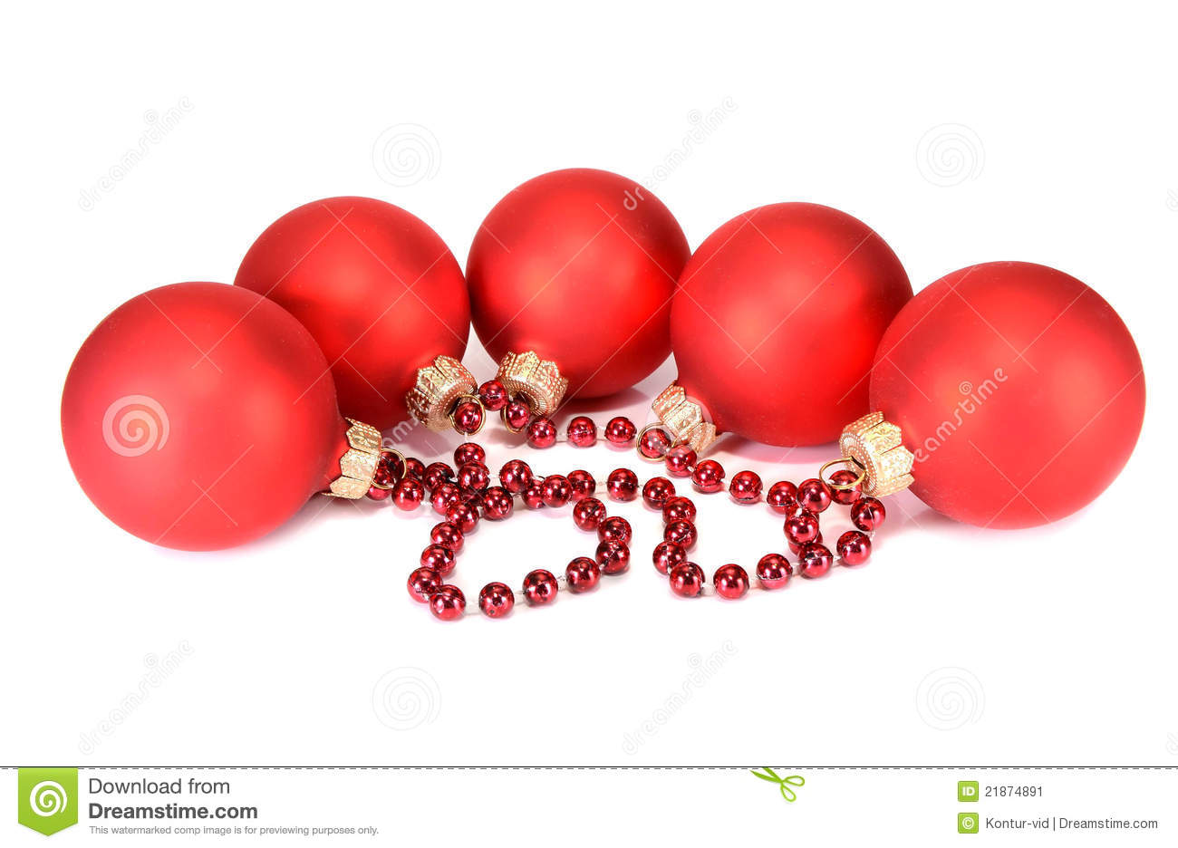 Balls Decoration For New Year And Christmas Stock Image ...