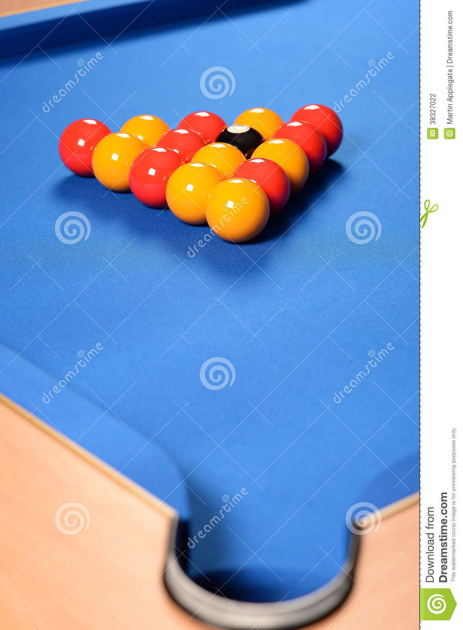 Balls Set Up On Pool Table Stock Photo Image Of Near - How to set up a pool table