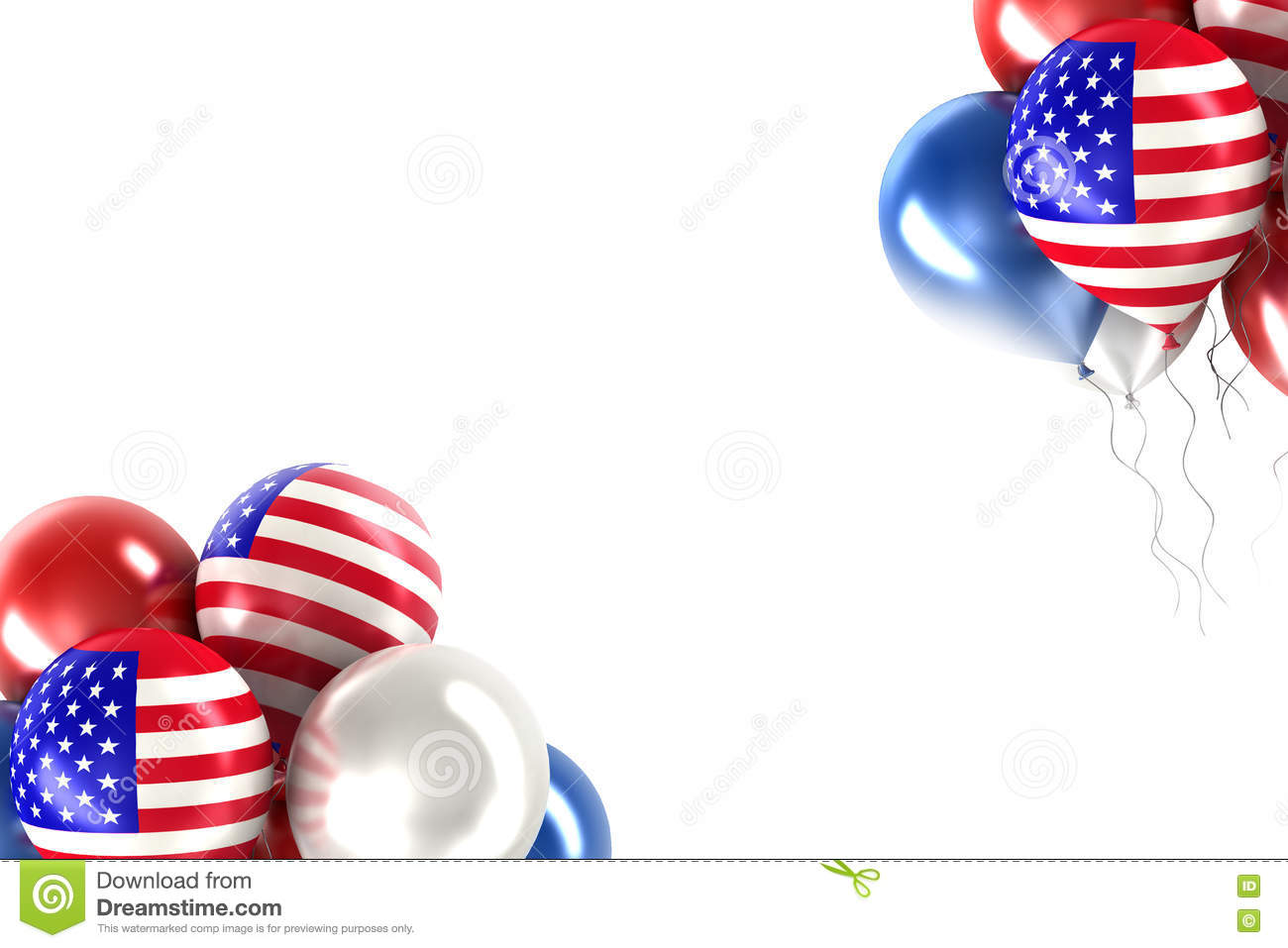 Balls With Symbols Of The Us Stock Illustration Illustration Of