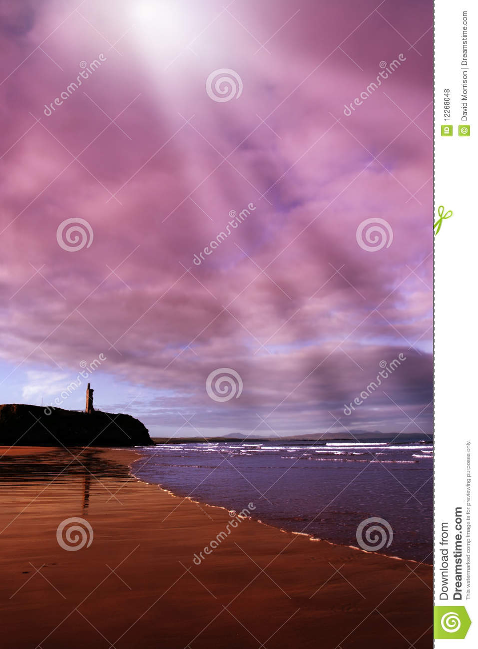 Download Ballybunion Beach Castle And Waves Stock Photo - Image of ballybunion, beautiful: 12268048