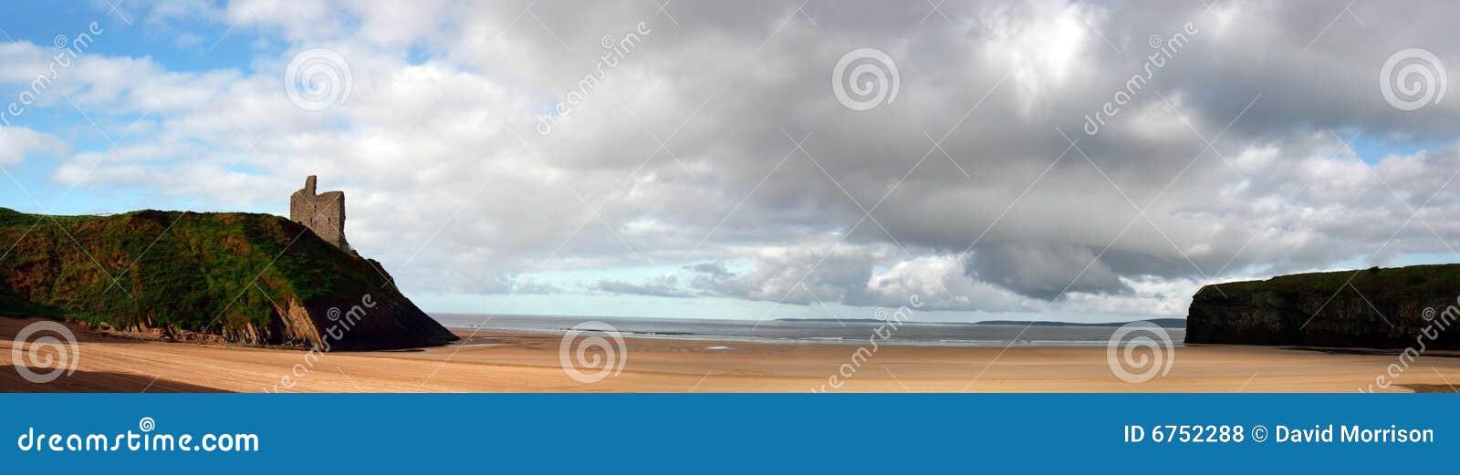 Ballybunion beach panorama