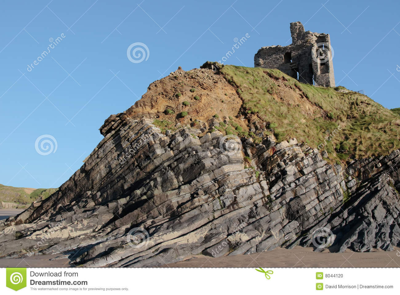 Download Ballybunion Castle On The Cliff Stock Photo - Image of heretage, seaside: 8044120