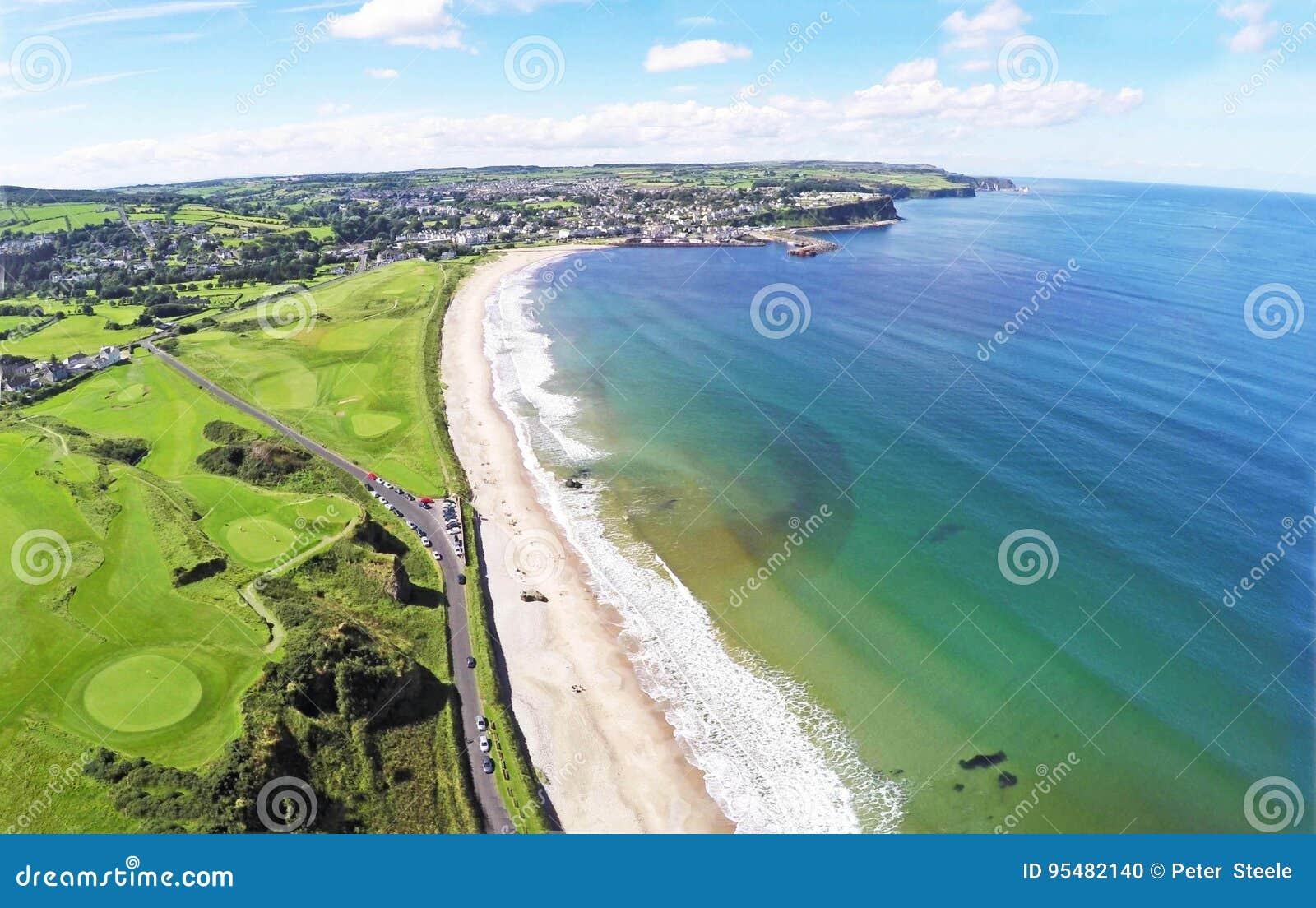 Ballycastle plaża co Antrim N Irlandia