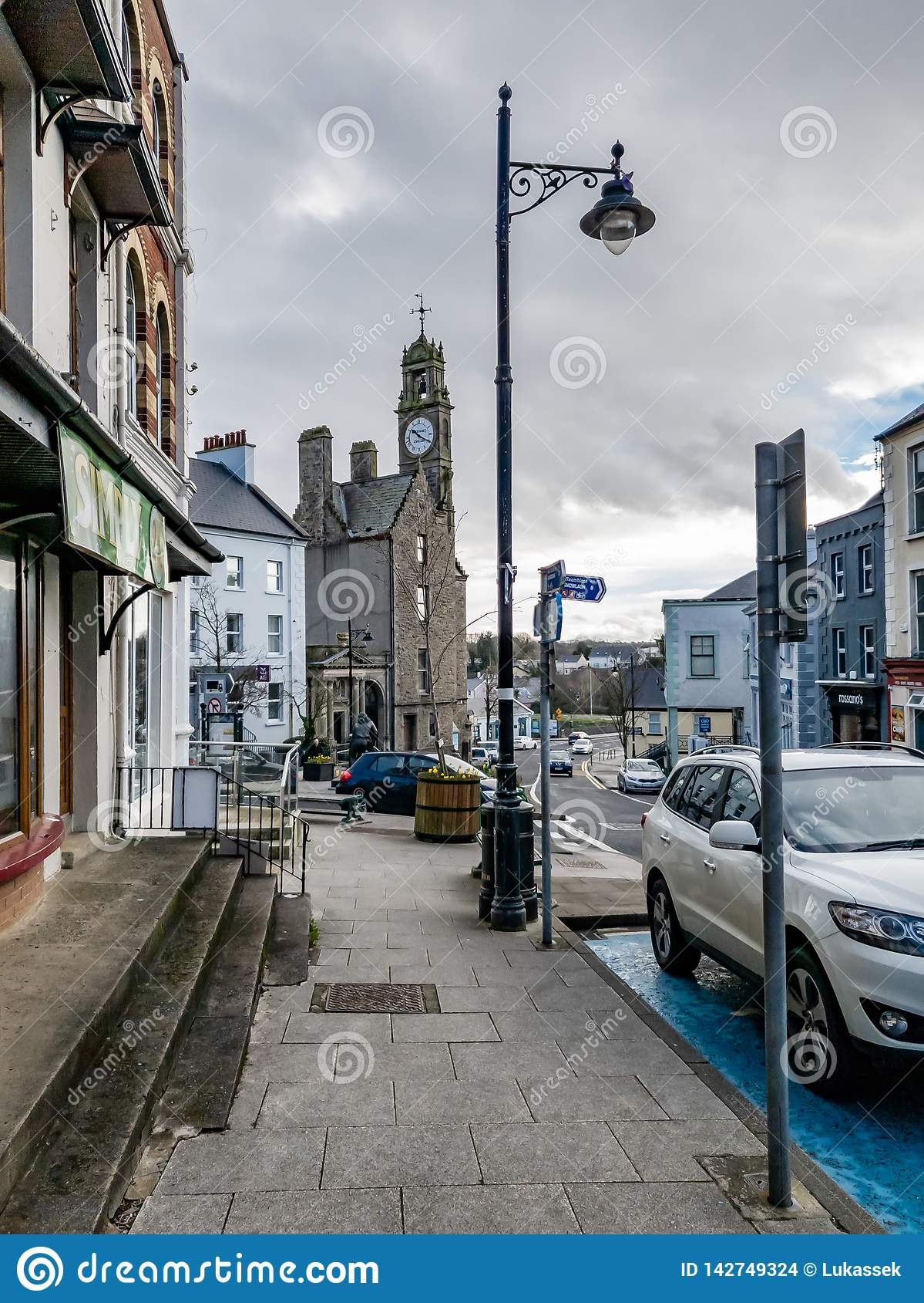 Irish Road Sign Ballyshannon County Donegal Ireland/'s Oldest Town IN STOCK
