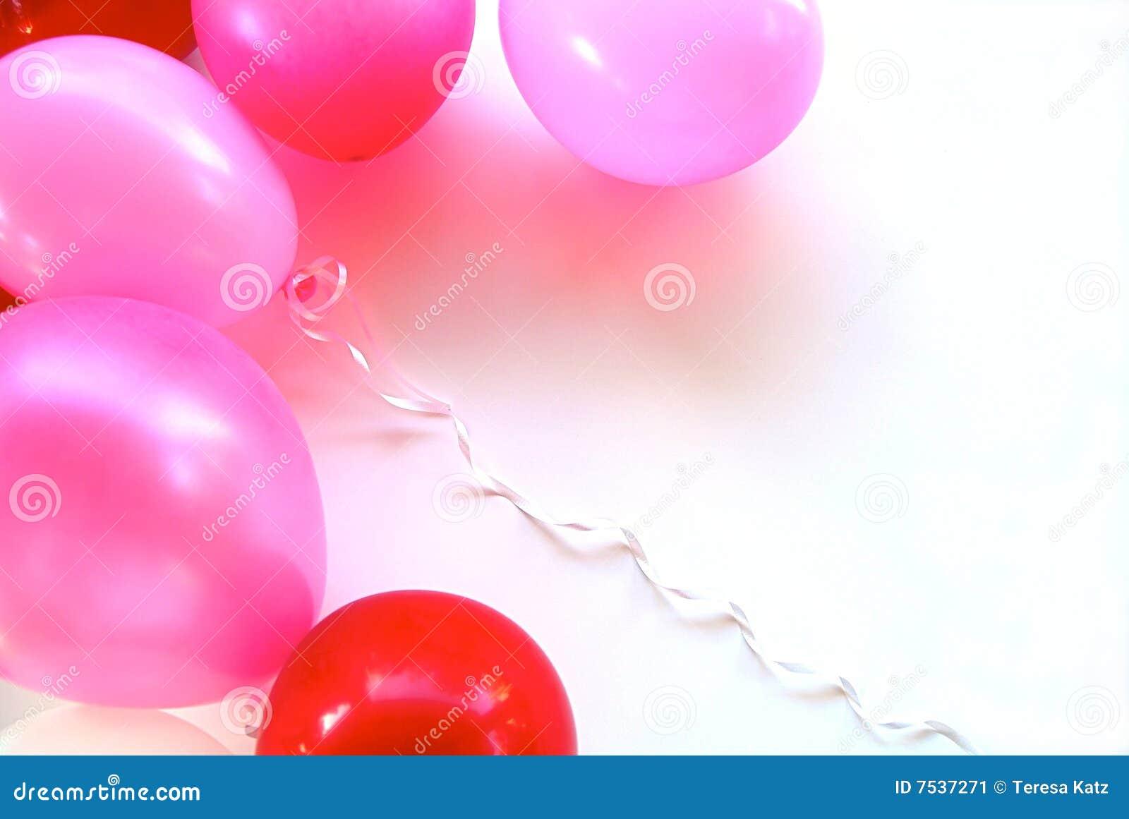 Balonów przyjęcia menchii czerwień