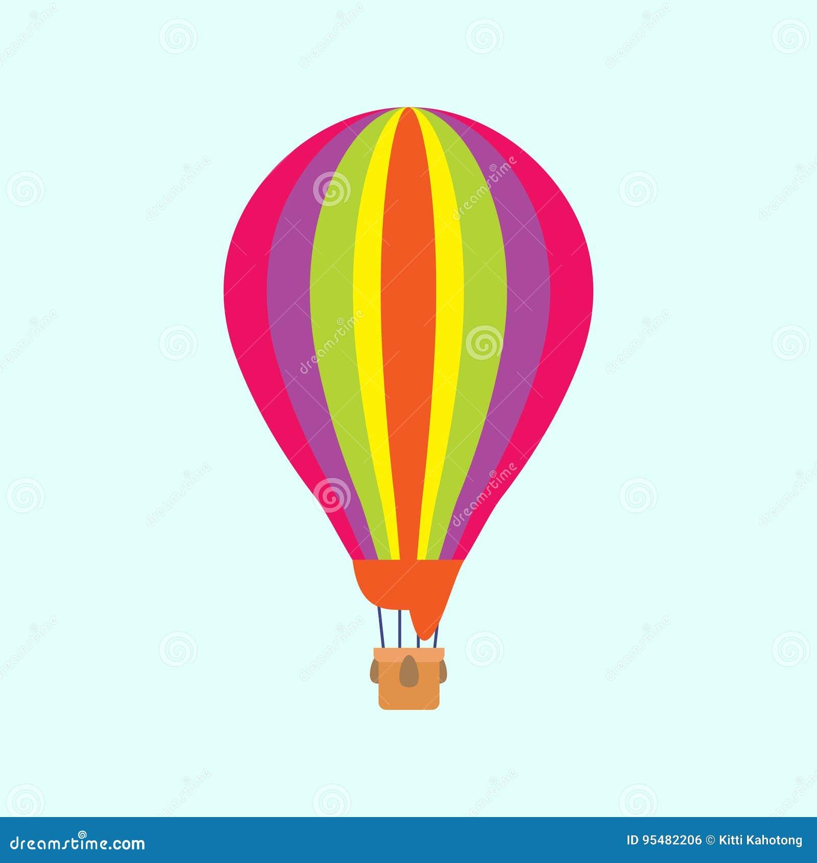 Balon na nieba tle lub błękitnym tle