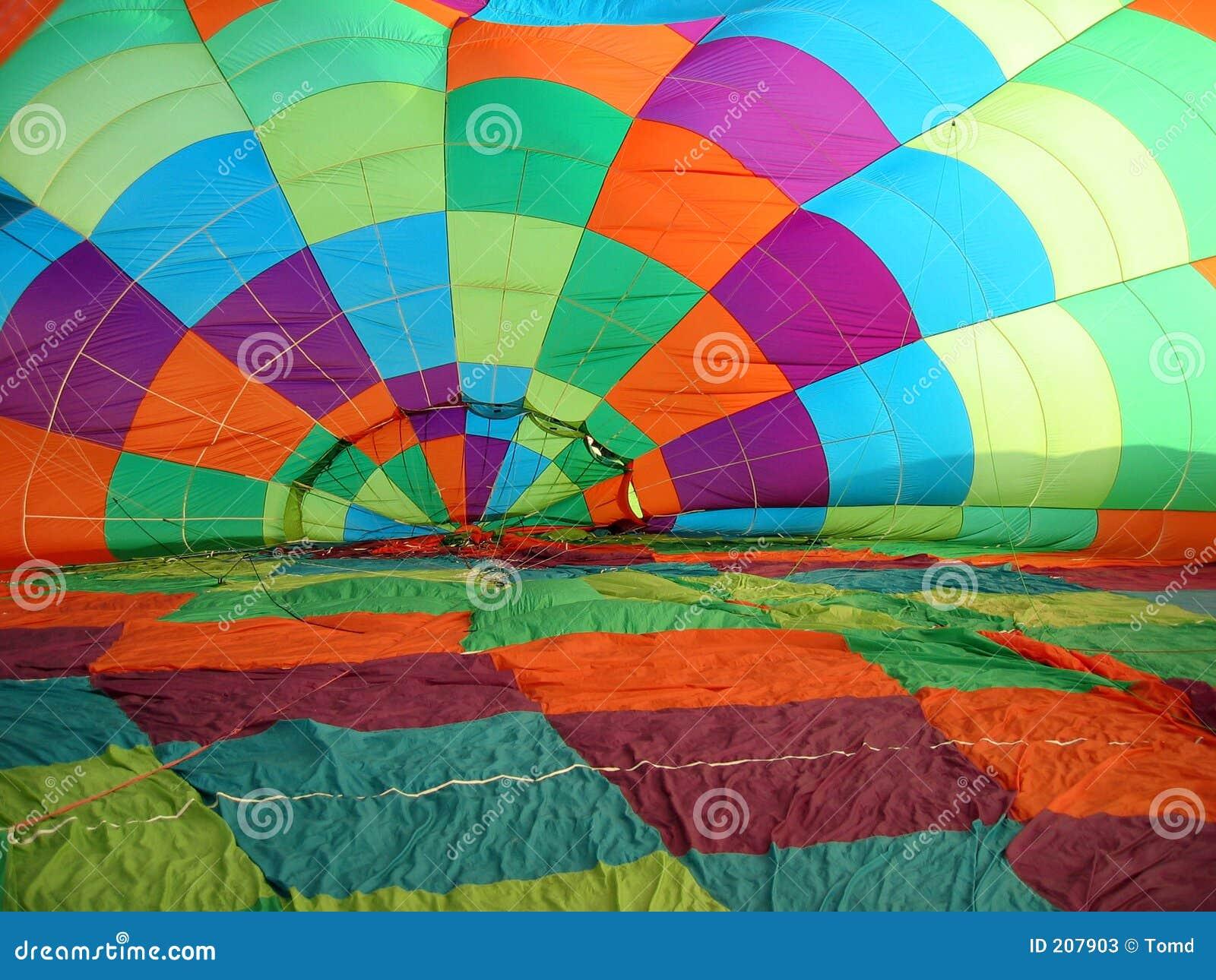 Balon powietrza baldachim gorąco
