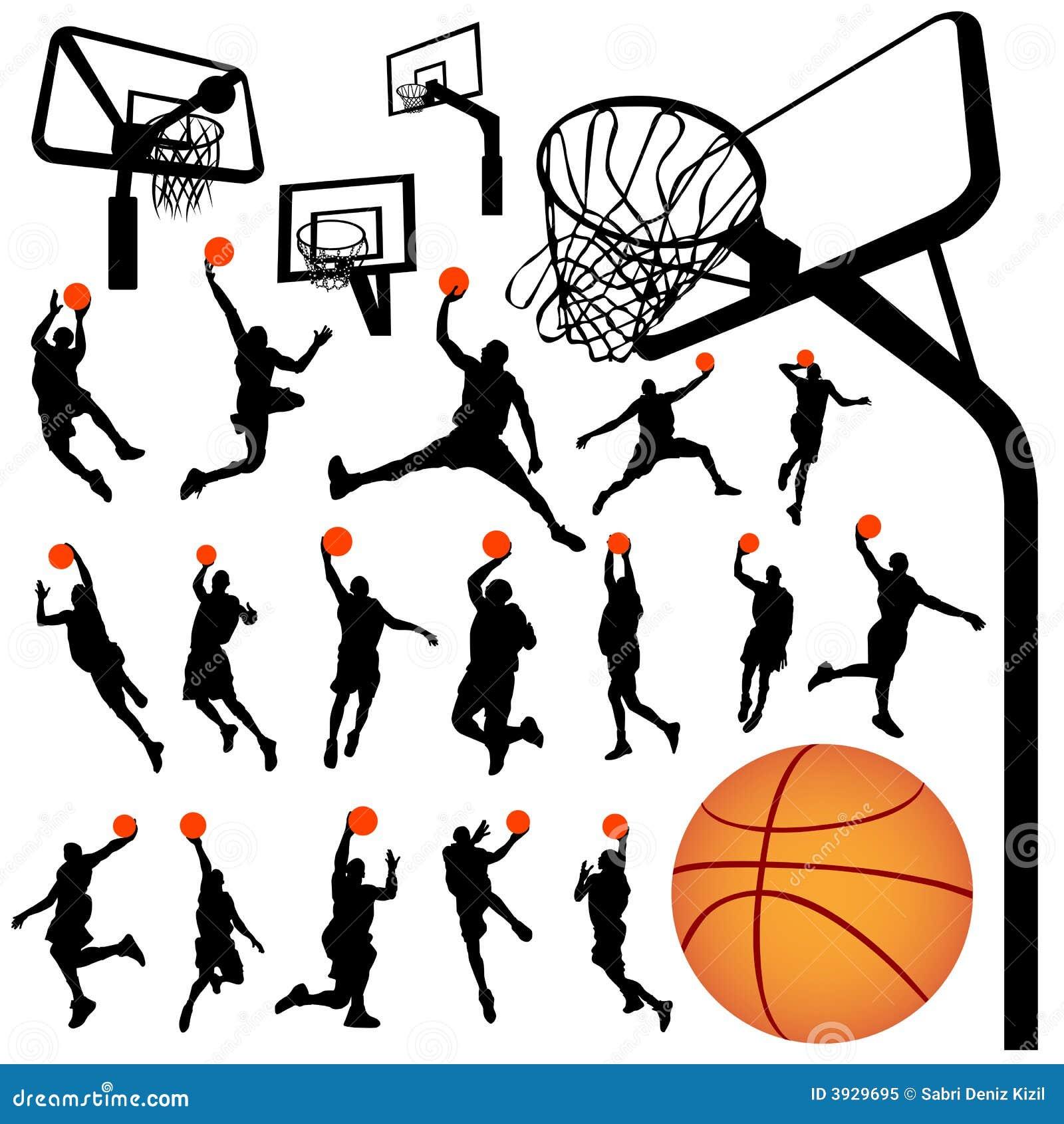 Baloncesto y vector 2 del tablero trasero