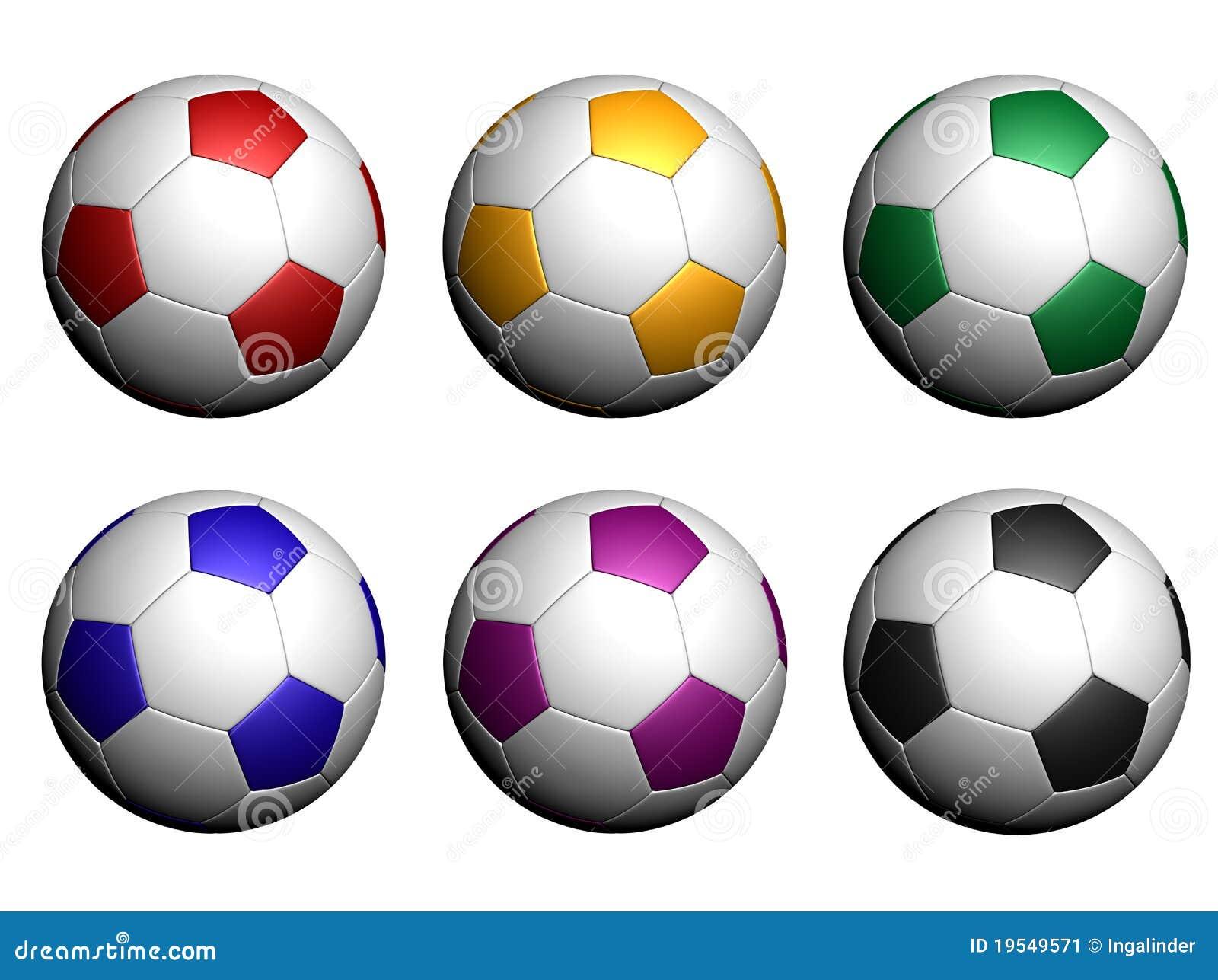 Balones De Fútbol Aislados En El Fondo Blanco Stock de ilustración ... 9a7a5590ae8bc