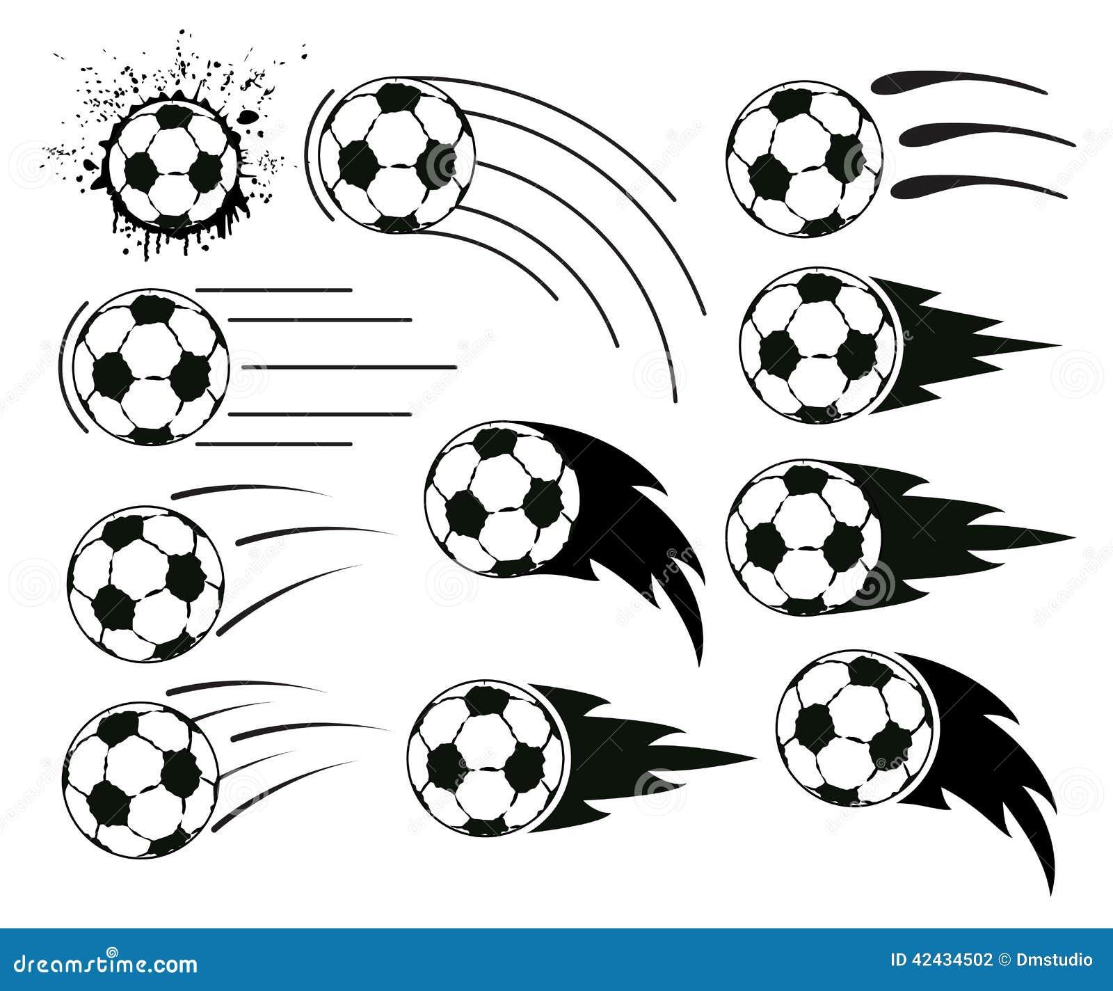 Balones de fútbol y del fútbol del vuelo