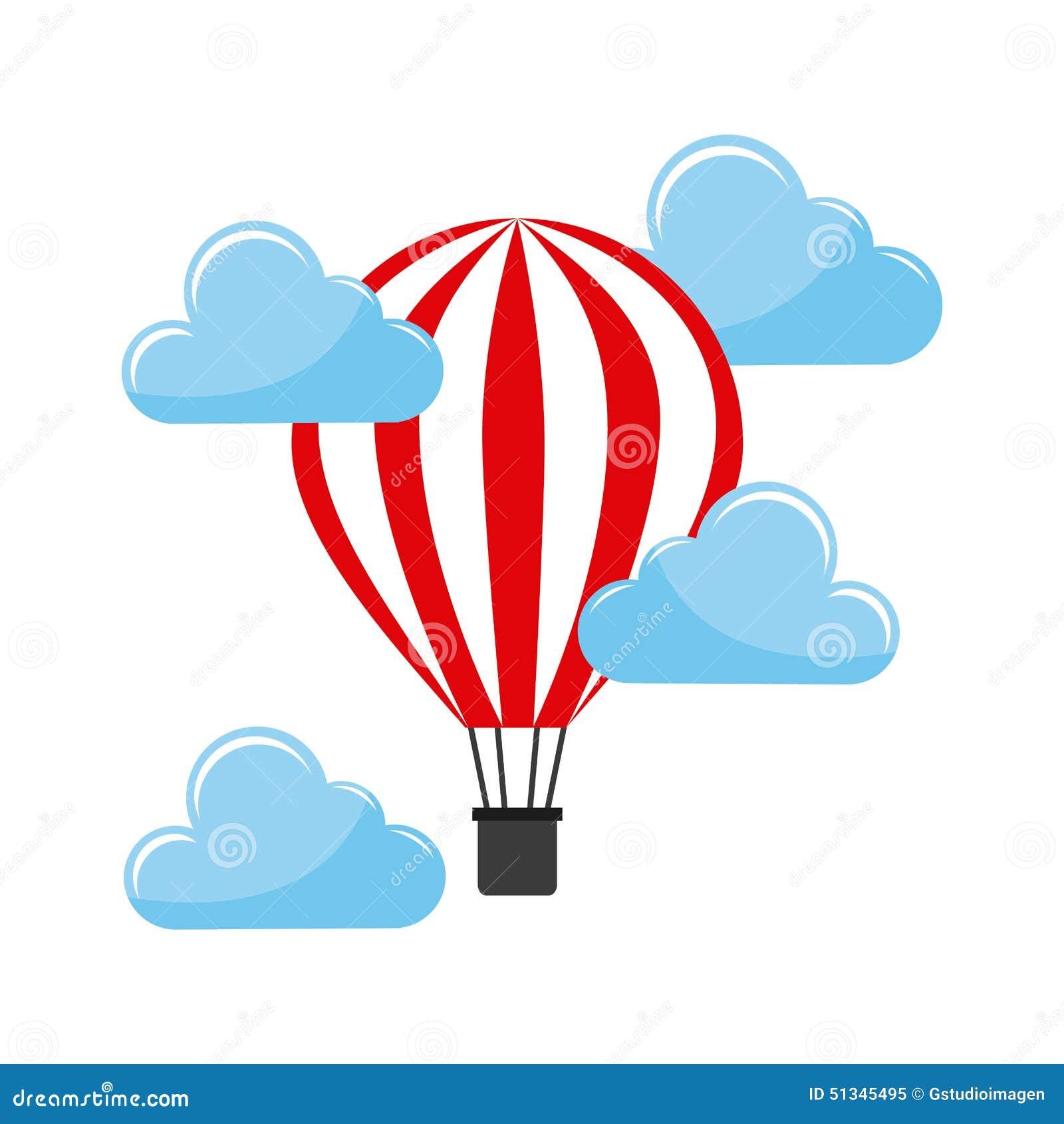 Balonowy lotniczy gorący