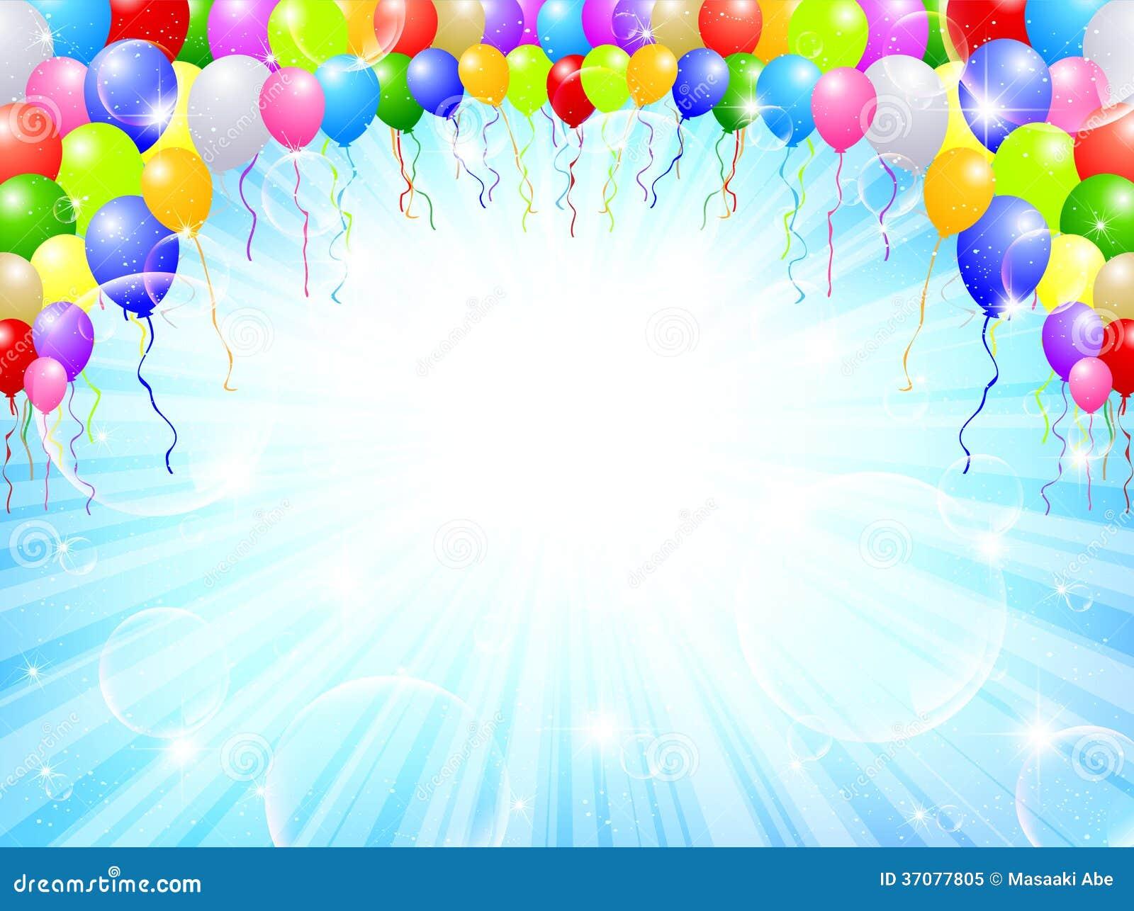 Download Balonowy nieba tło ilustracji. Ilustracja złożonej z akcesoria - 37077805